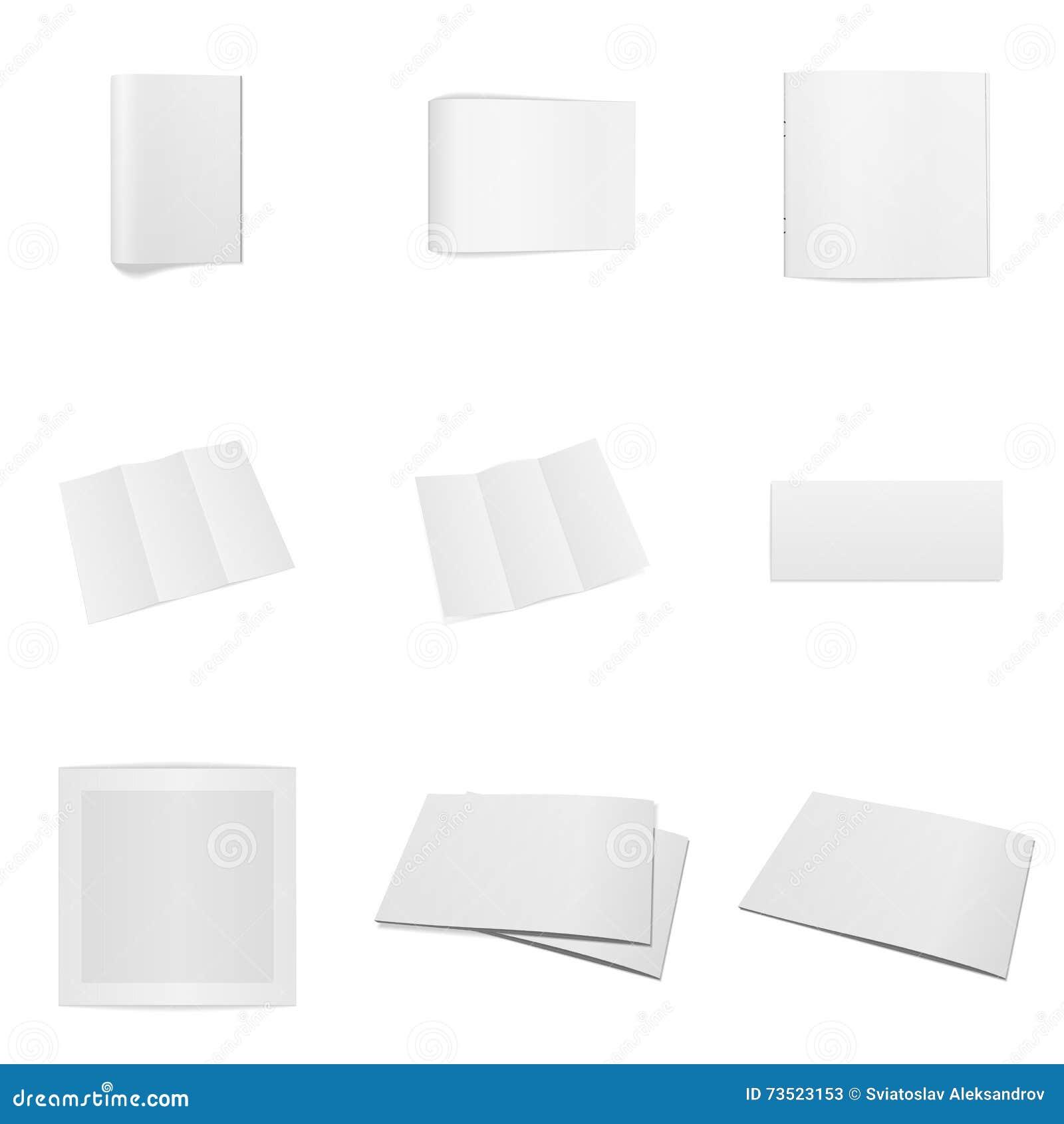 Realistic Office Mockups Set Stock Vector - Illustration of design ...