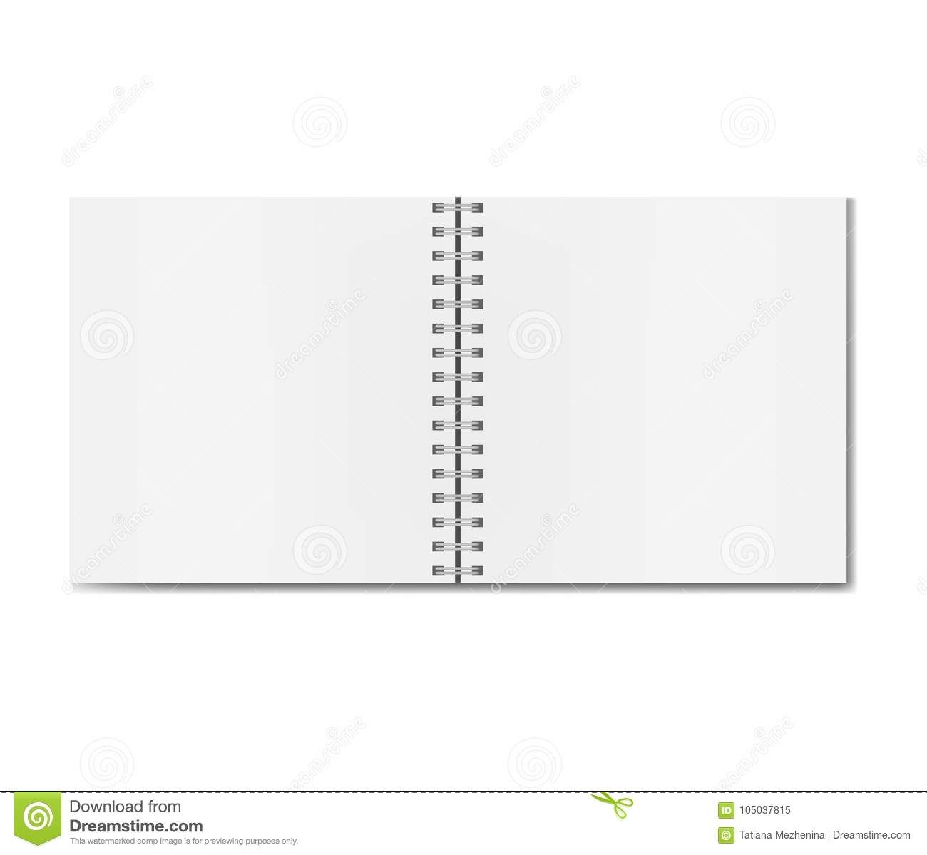 Realistic Opened Square Sketchbook Mockup Stock