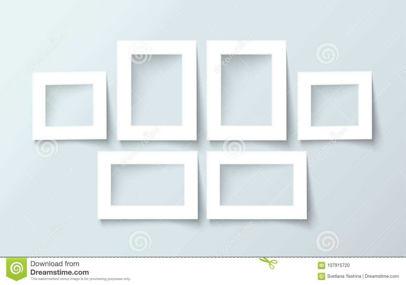 Photo Frame Collection Realistic Vector Stock Vector - Illustration ...