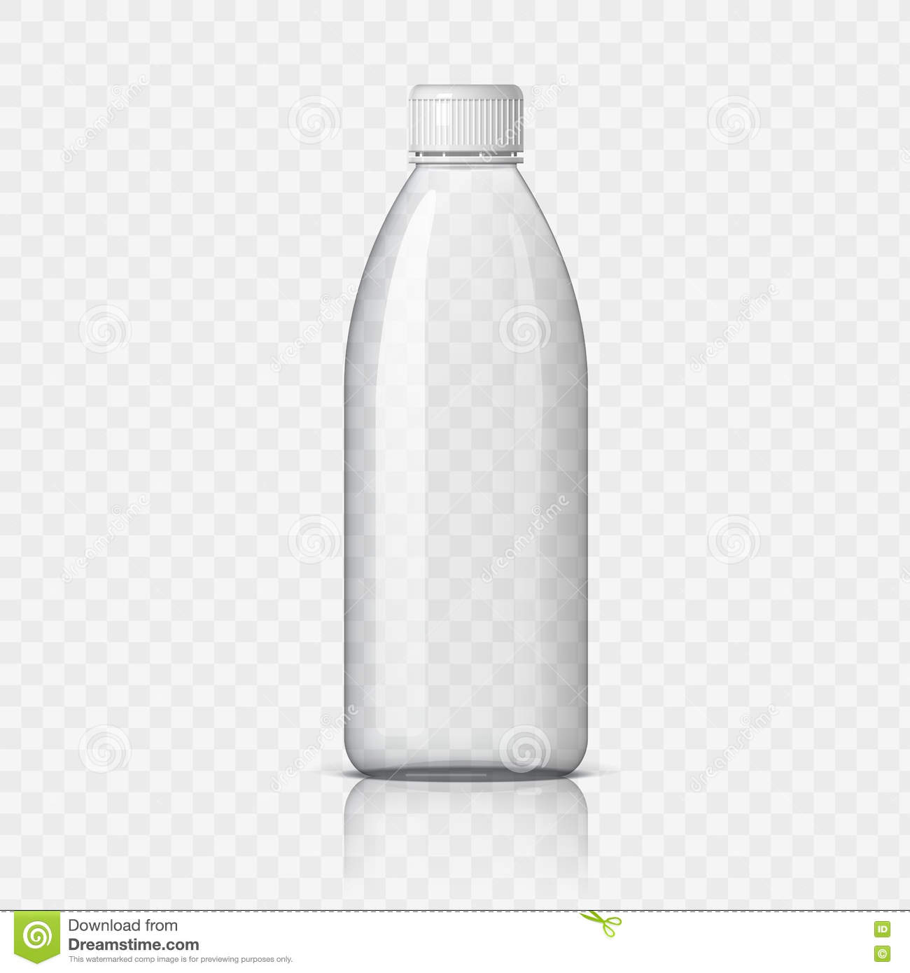 Realistic Plastic Bottle For Water. Stock Vector - Image ...