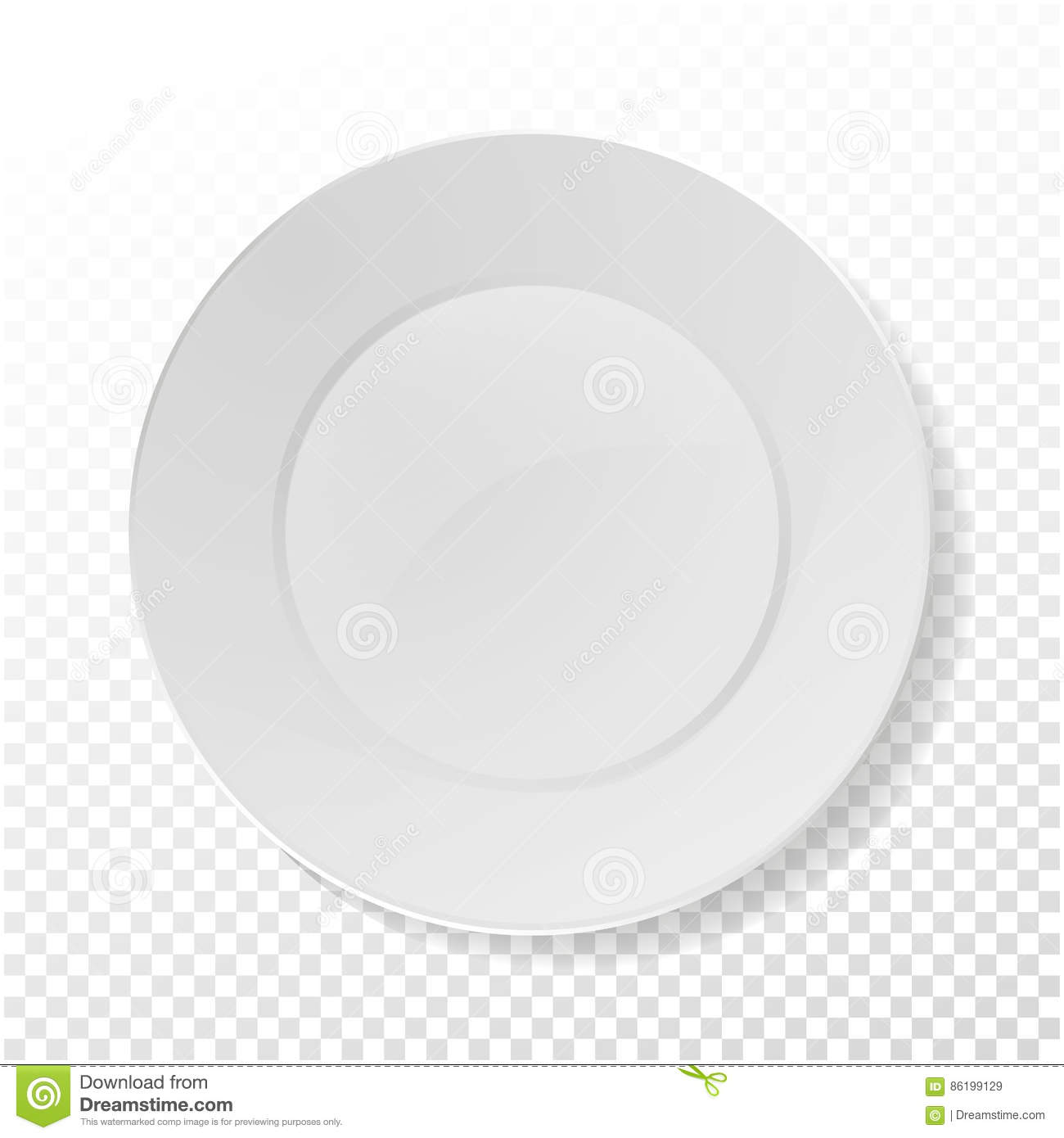 Realistic Plate Vector. Closeup Porcelain Mock Up Tableware On ...