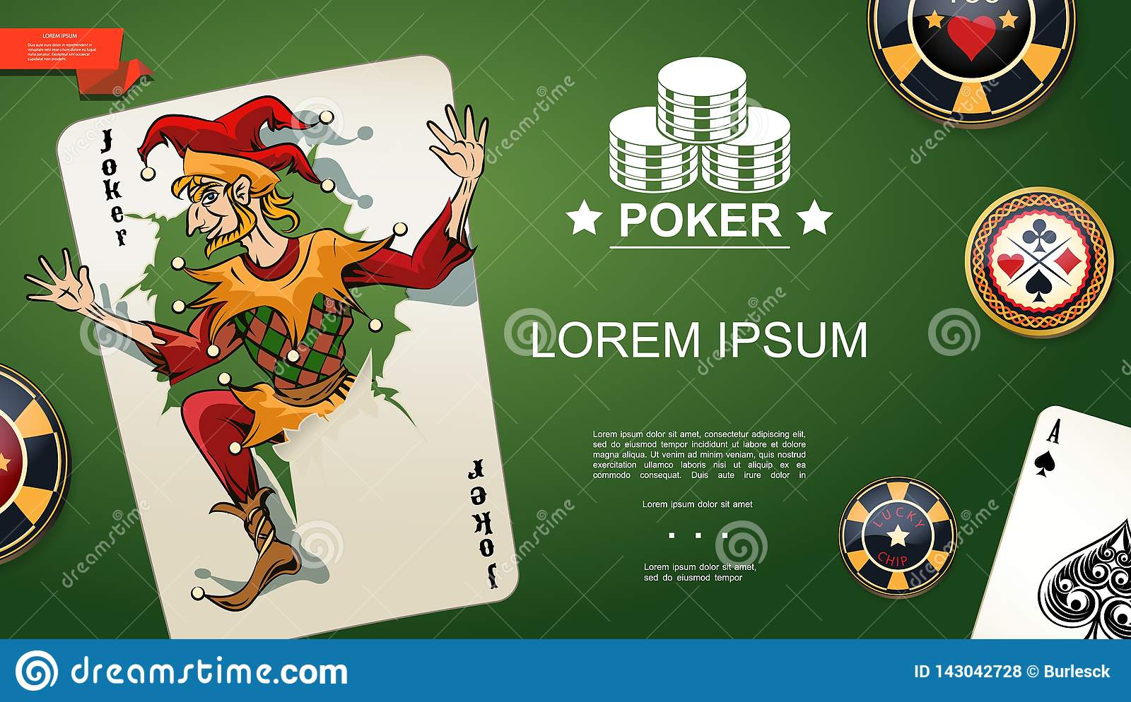 Realistic Poker Template stock vector  Illustration of game