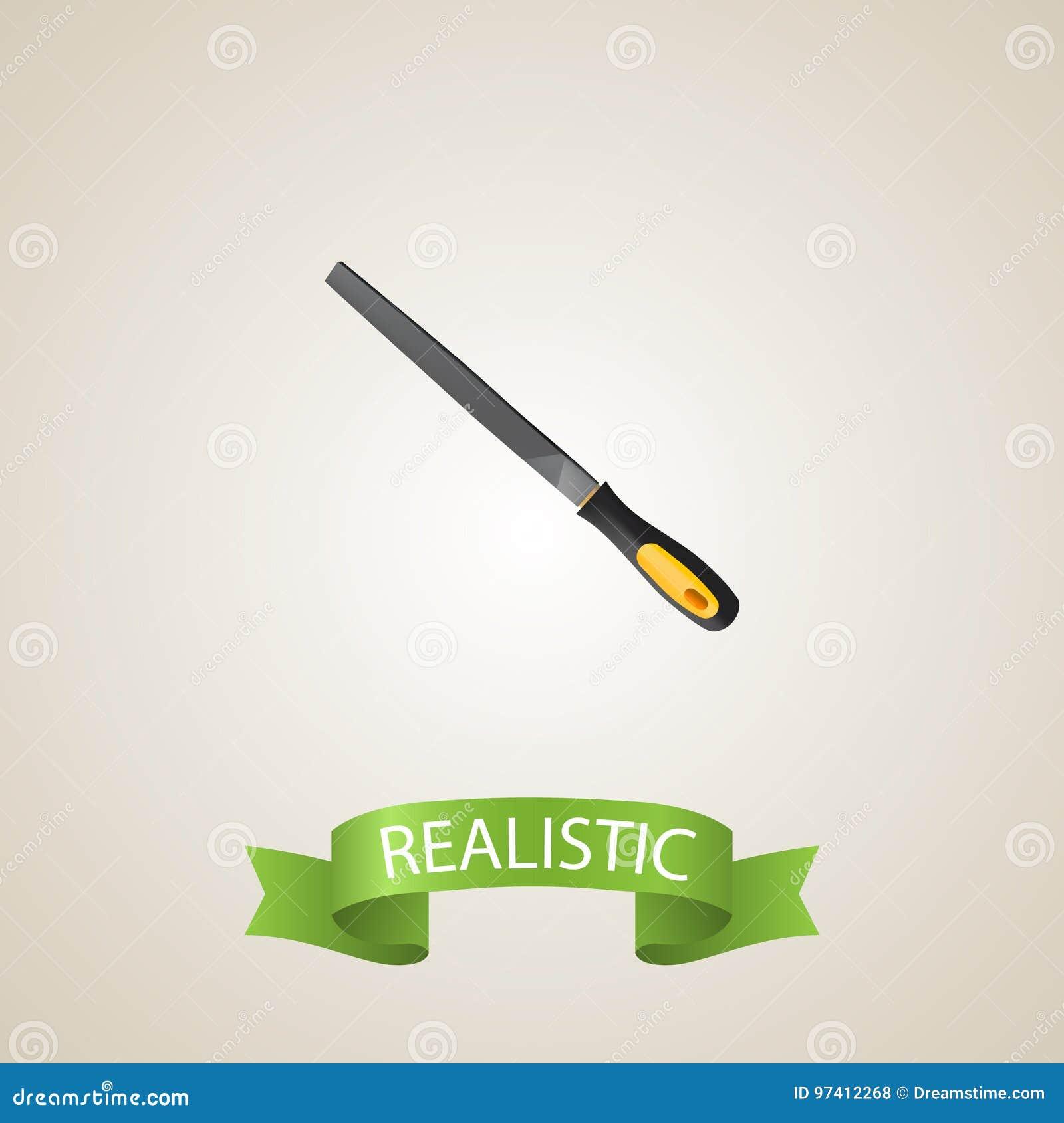 Realistic Rasp File Element  Vector Illustration Of