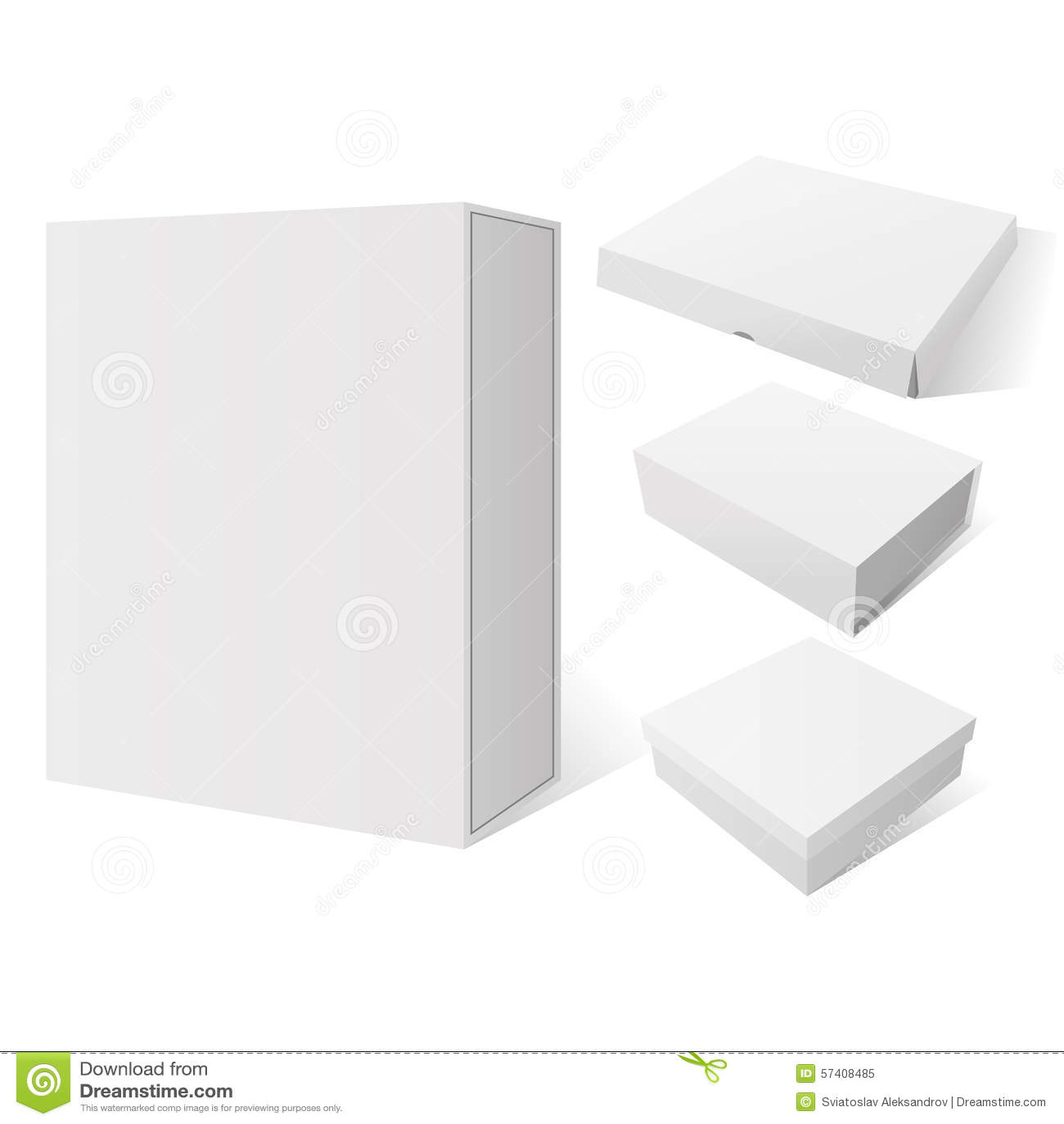 Package Mockup Box Stock Vector - Image: 53435323