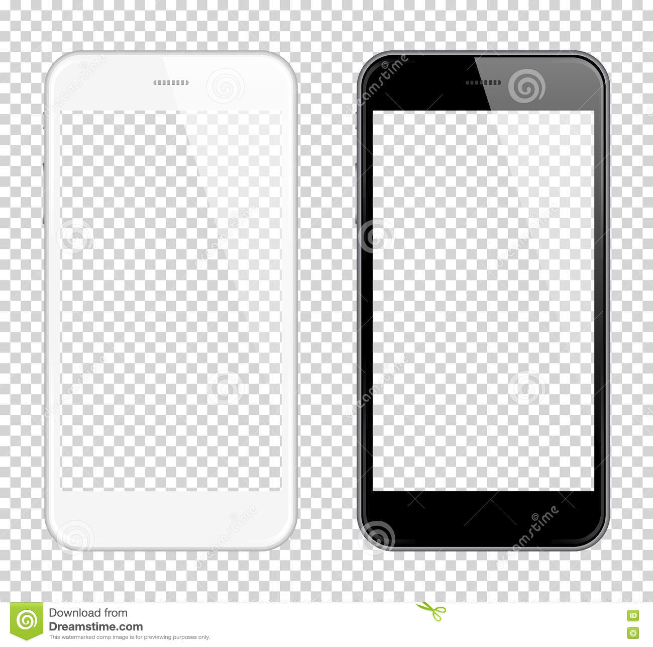 Realistic smart phone Vector Mock Up. Fully Re-size-able. Easy way to place image into screen Smartphone, for web design