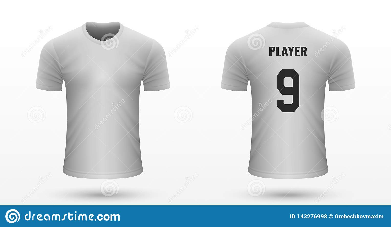 2c963e15f85 Realistic soccer shirt Valencia, jersey template for football kit. Vector  illustration