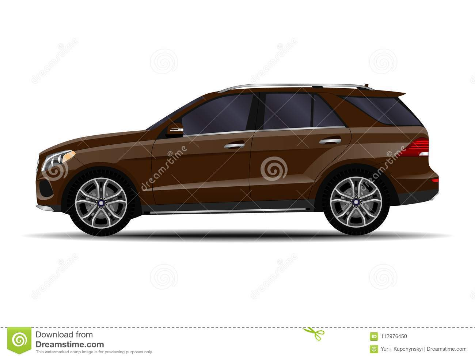 Realistic SUV car.