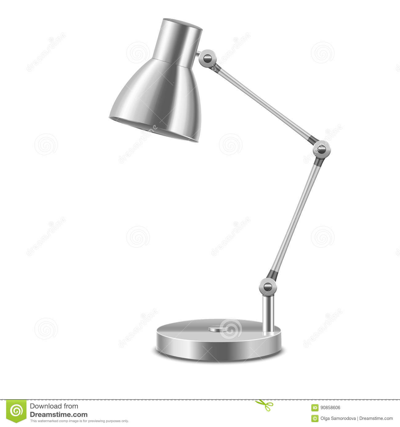 realistic template blank metal table lamp vector stock vector
