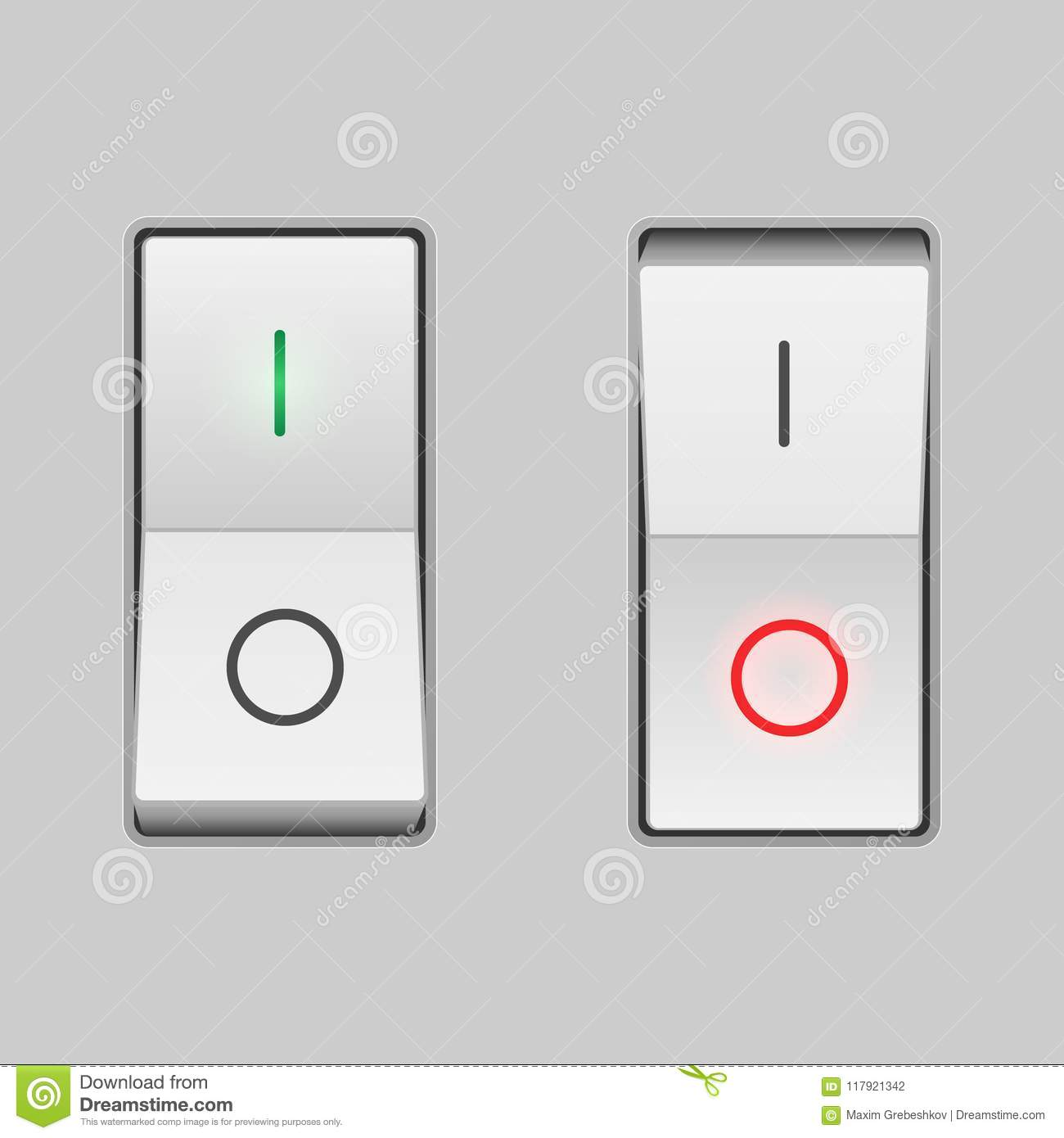Realistic toggle switch stock vector. Illustration of connect ...