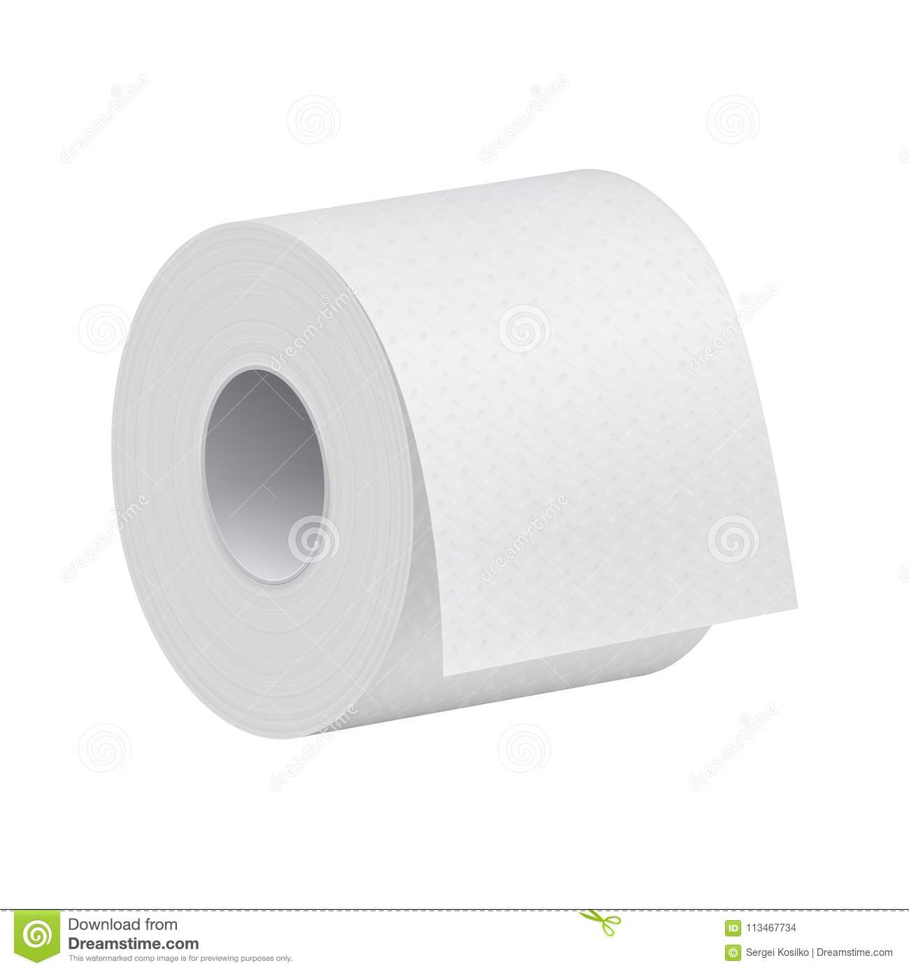 realistic toilet paper roll mock up template stock illustration