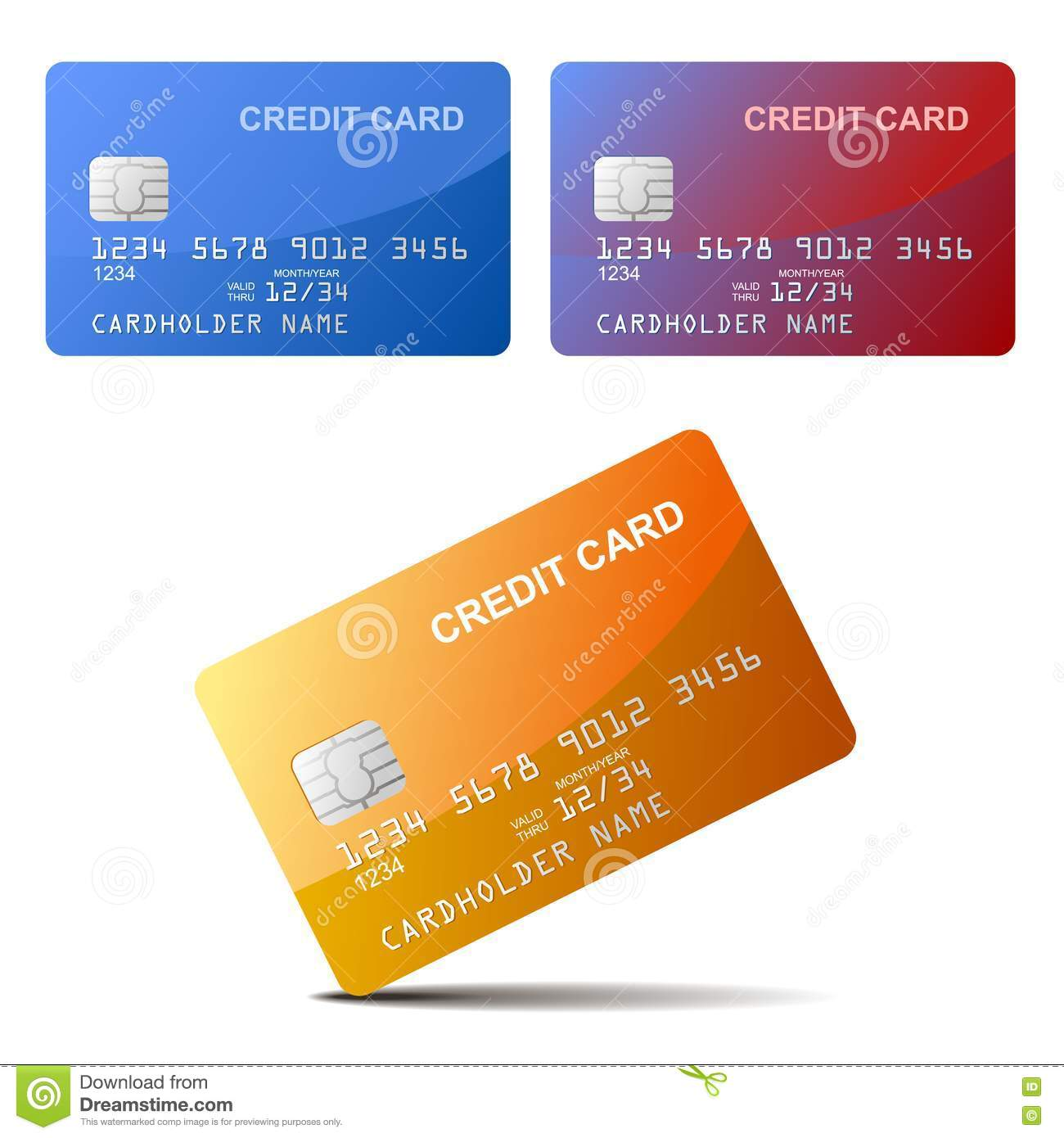 Realistic Vector Credit Card Royalty Free Stock Photos - Image ...