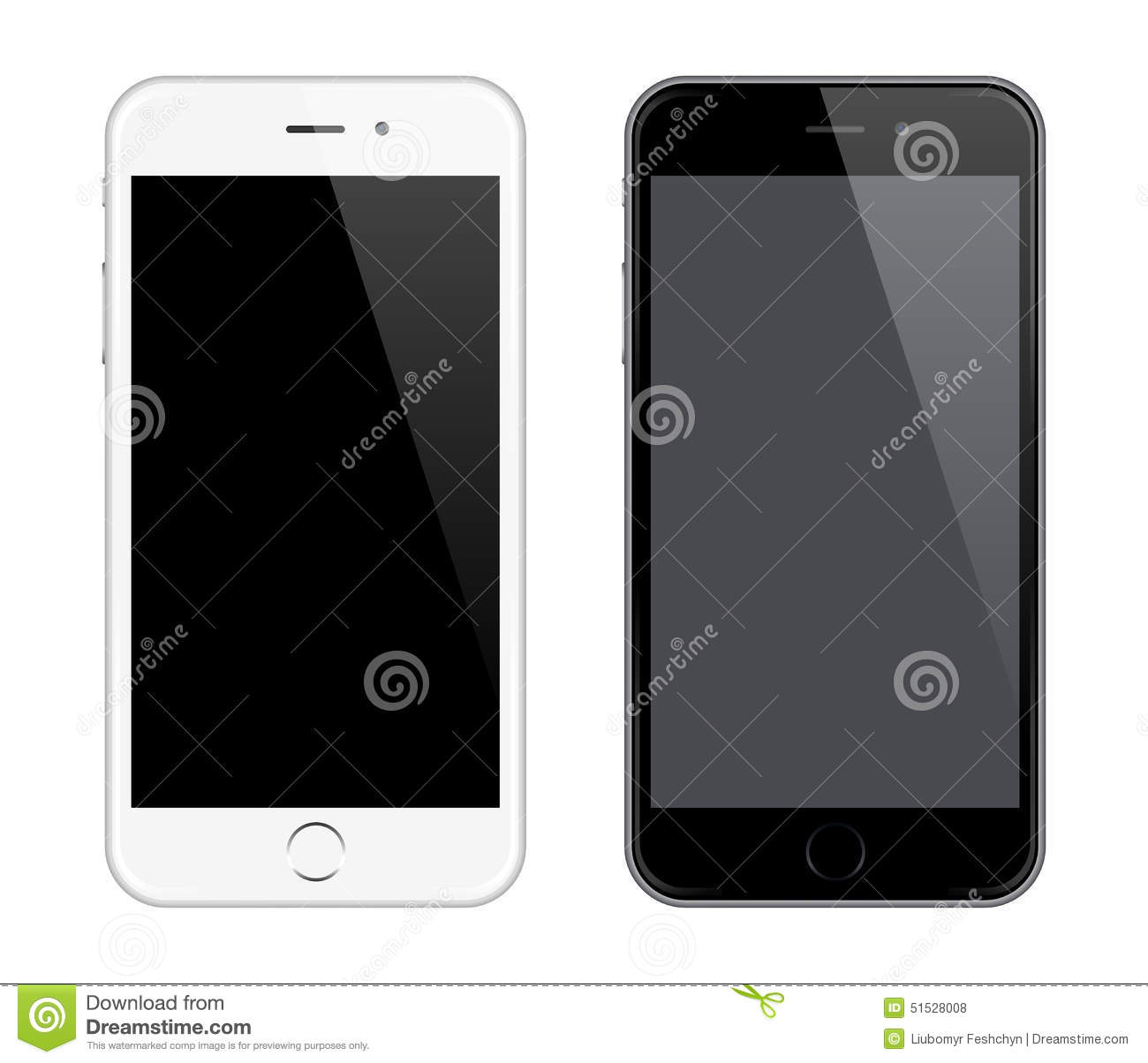 Realistic Vector Mobile Phone Mockup like Iphone Design Style