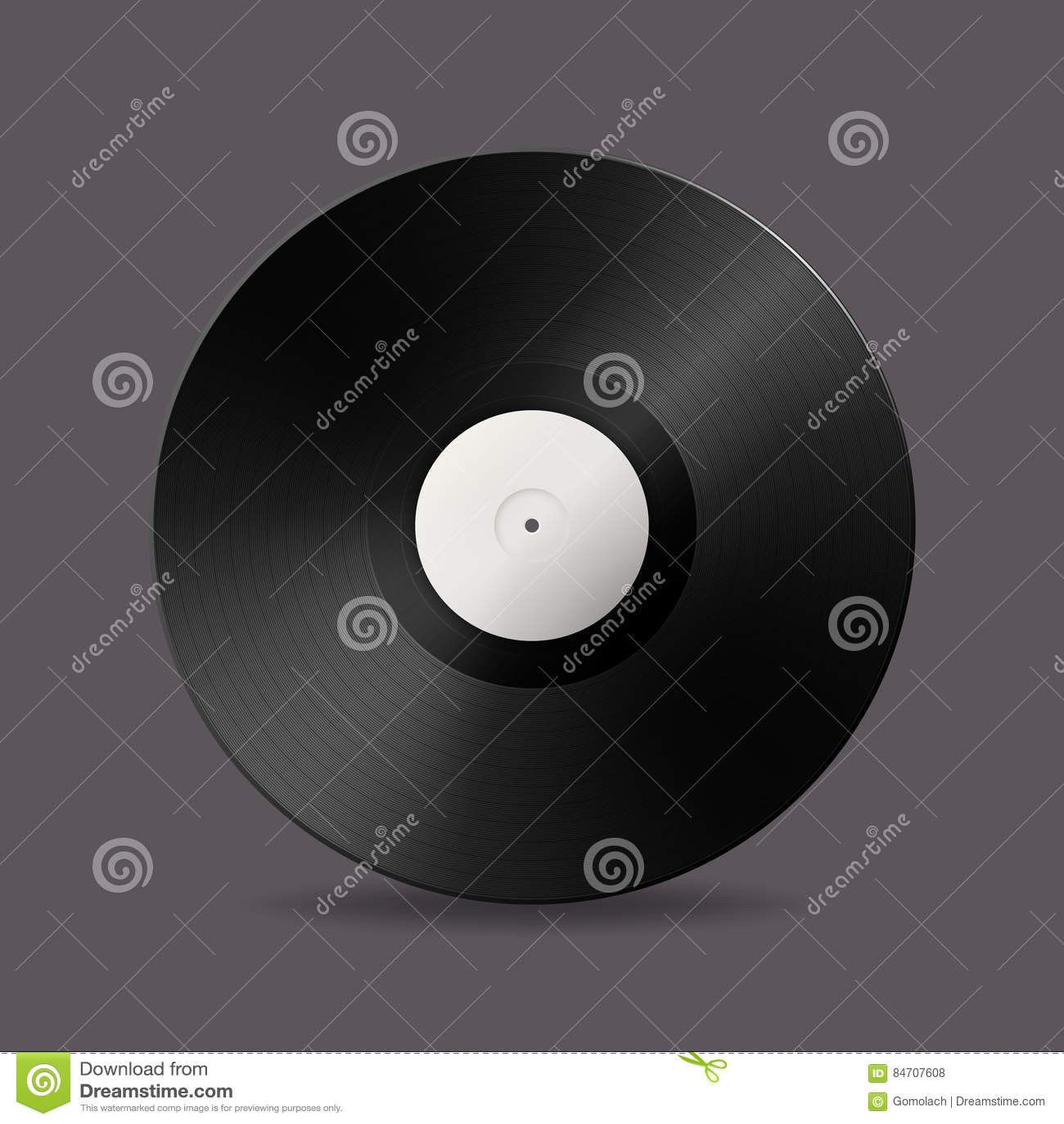 Realistic vector music gramophone vinyl lp record icon design download comp maxwellsz