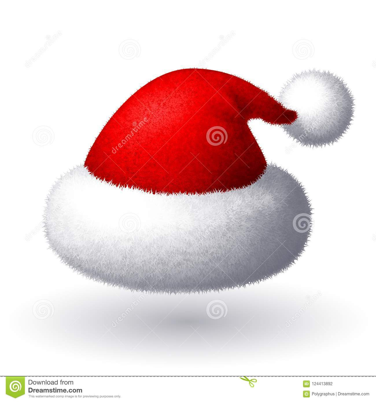 e22cfda51f82c Realistic Vector Santa Hat Isolated On White Background Stock Vector ...
