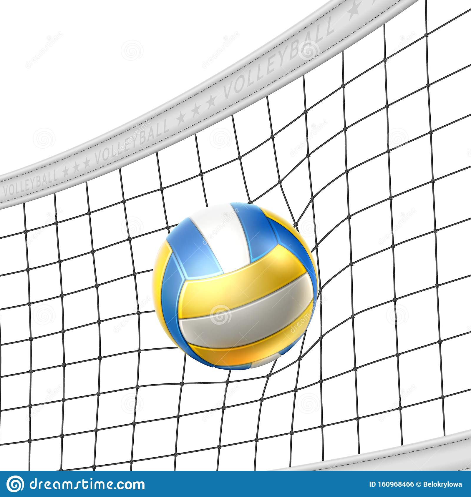 Vector Realistic Beach Volley Ball In Net Isolated Stock Vector Illustration Of Show Abstract 160968466