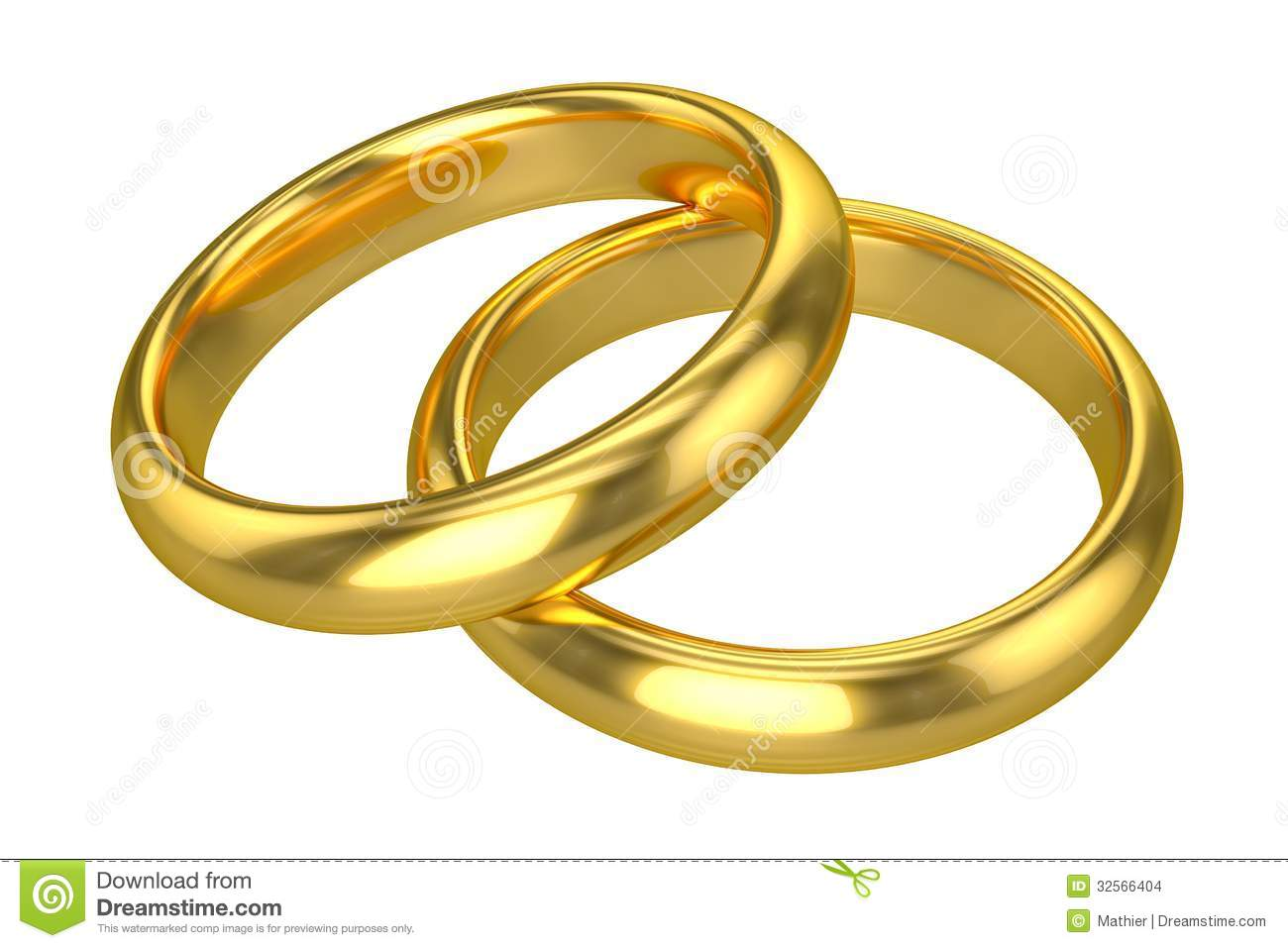 Realistic Wedding Rings Gold Stock Photo Illustration Of Gold