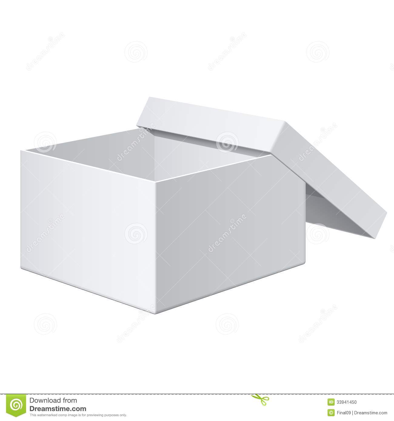 Realistic White Box For Electronic Device Vector Stock