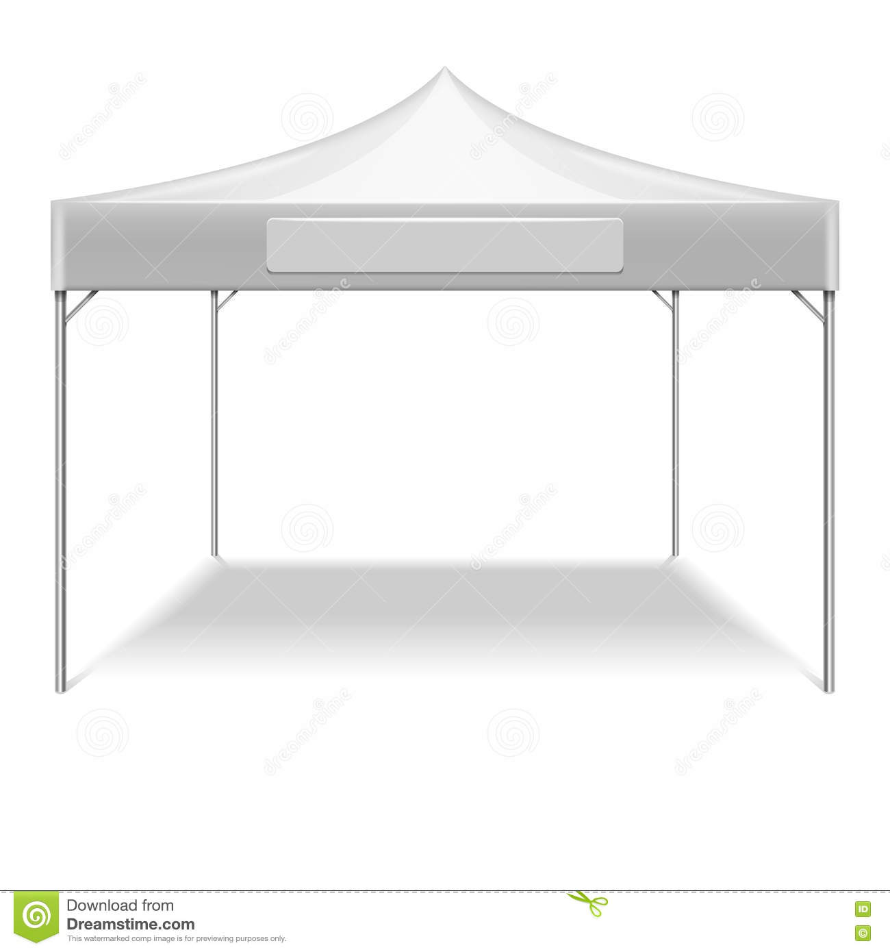 Realistic white outdoor folding party tent vector mockup Stock Images  sc 1 st  Dreamstime.com & White Empty Folding Tent Marquee Vector Template Stock Vector ...
