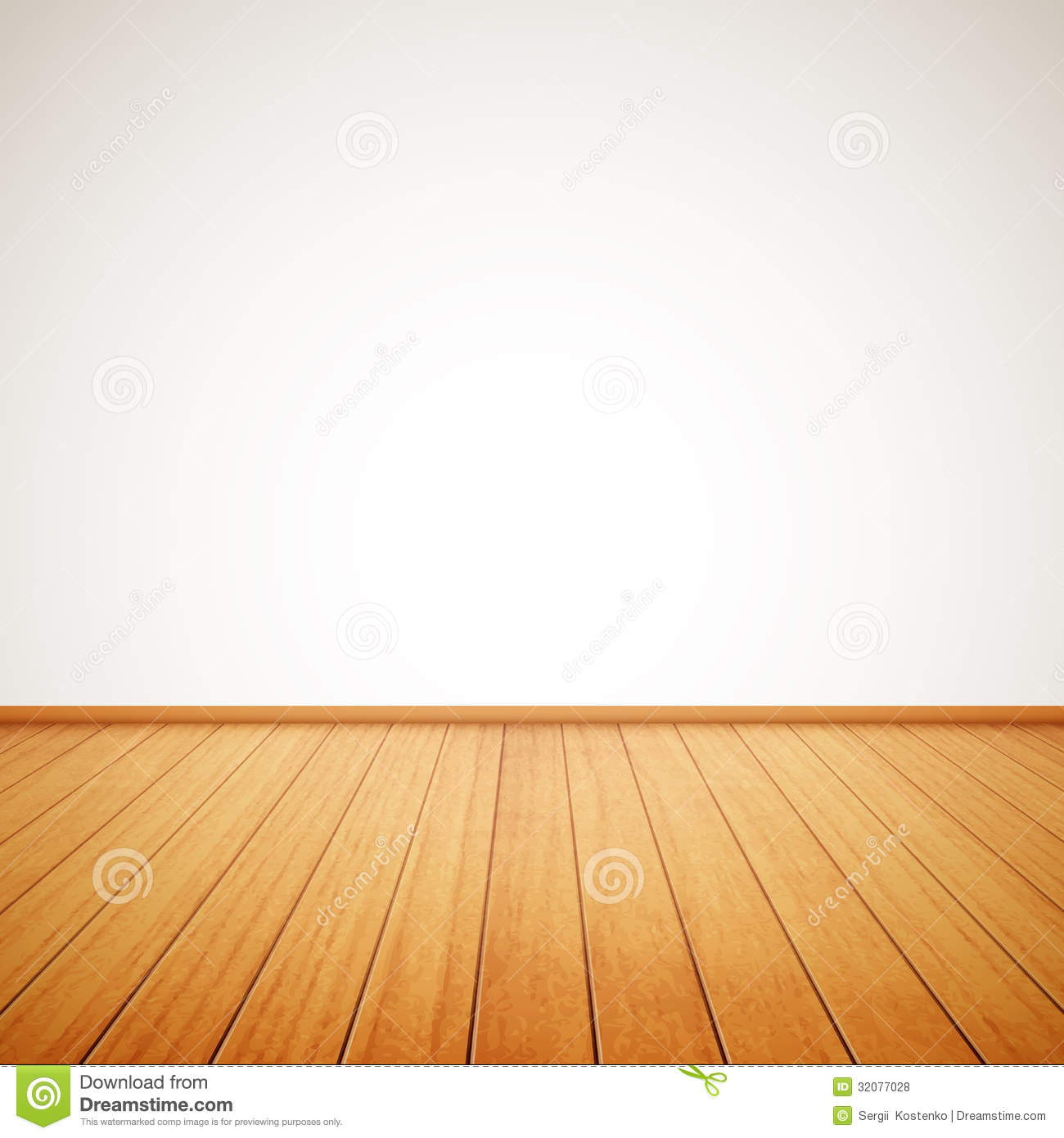 realistic wood floor white wall eps 32077028
