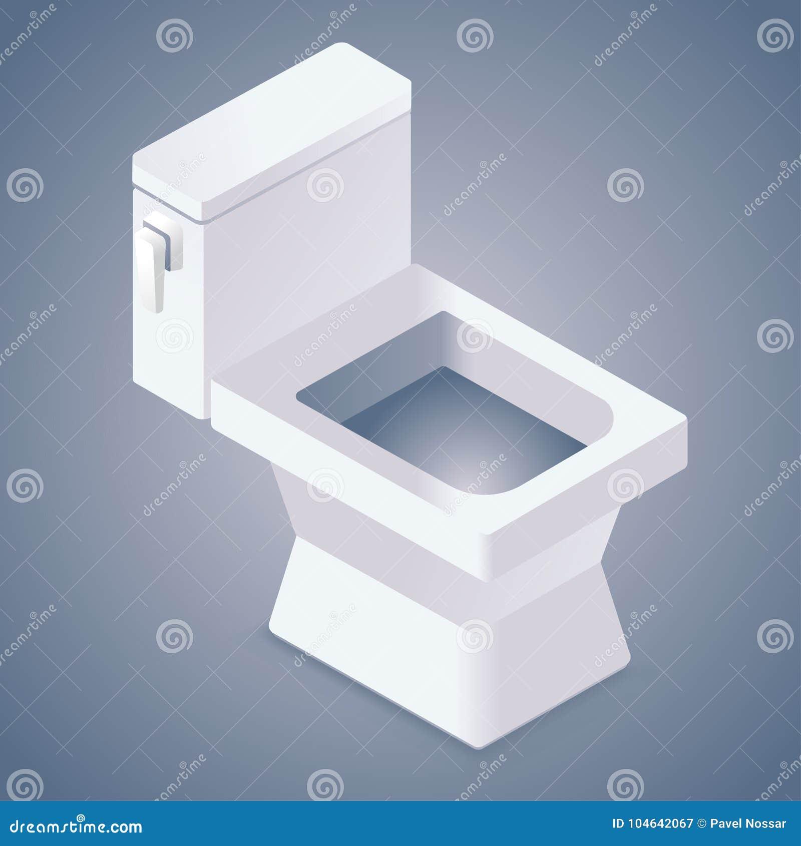 Download Realistisch Toiletpictogram Vector Illustratie - Illustratie bestaande uit zaken, grappig: 104642067