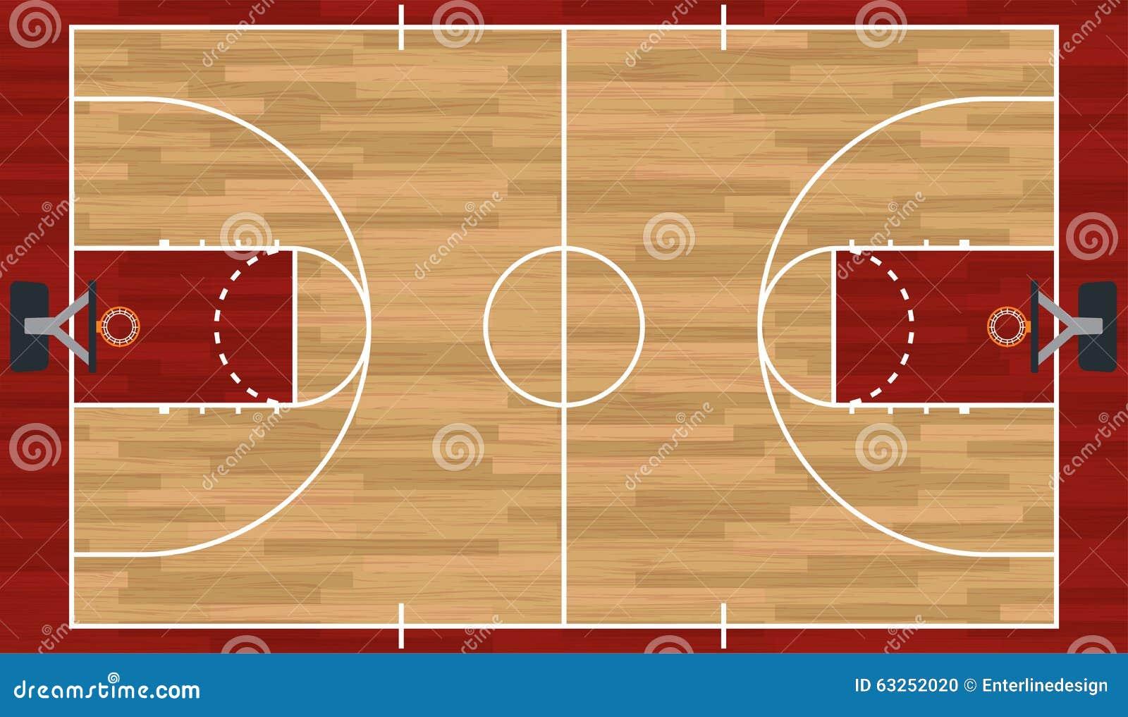 Realistische Basketbalhof Illustratie