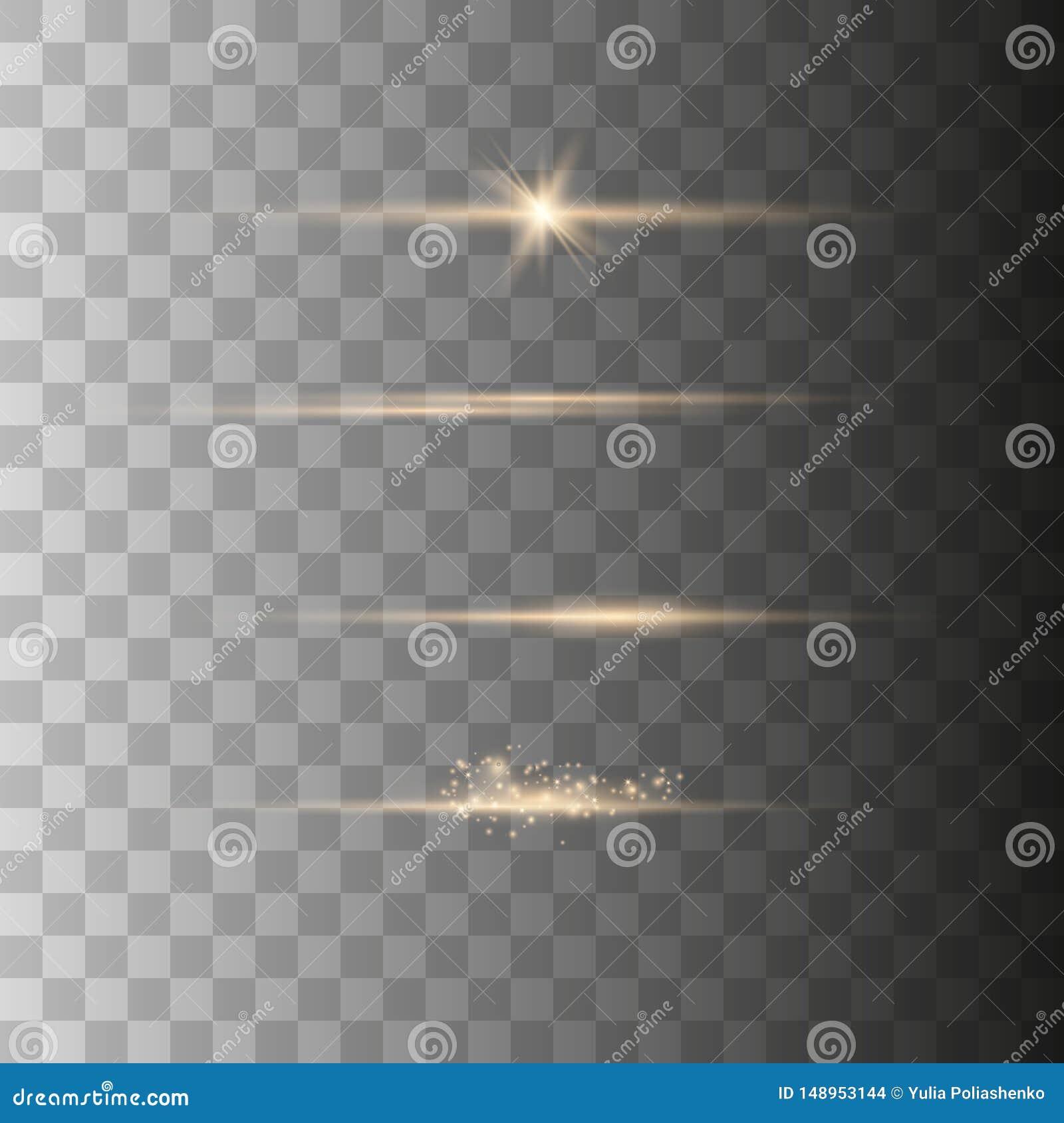 Realistische Blendenfleck-Elemente