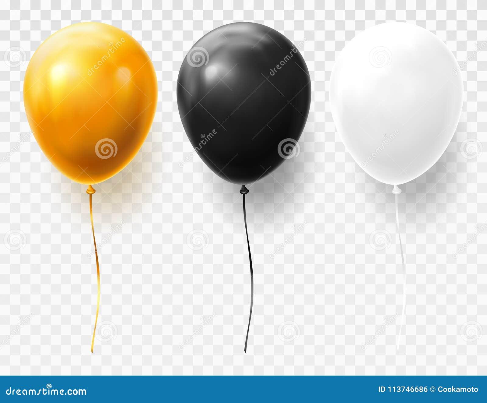 Realistische en volumetrische ballons op transparant