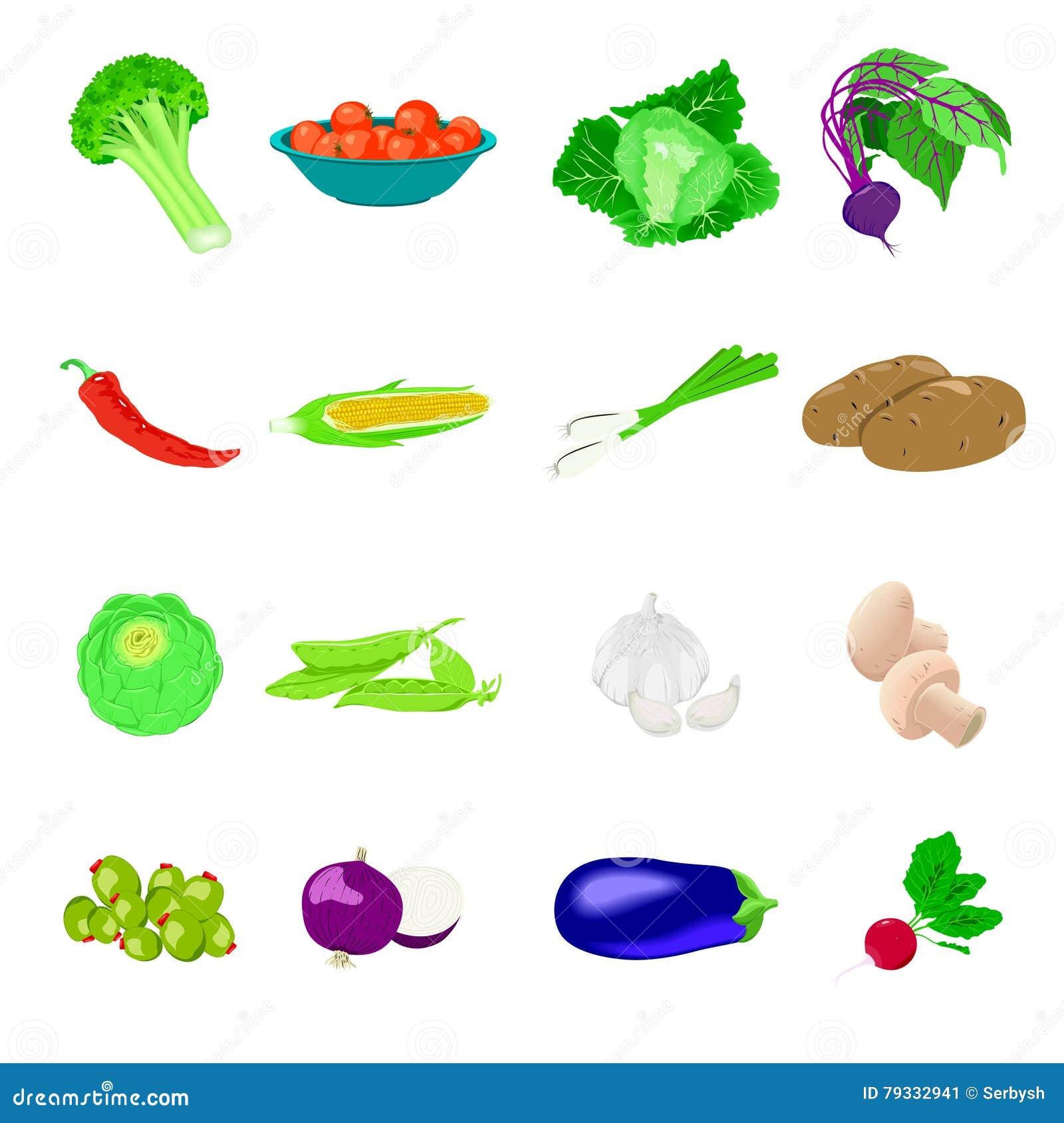 Realistische groentenfoto, reeks