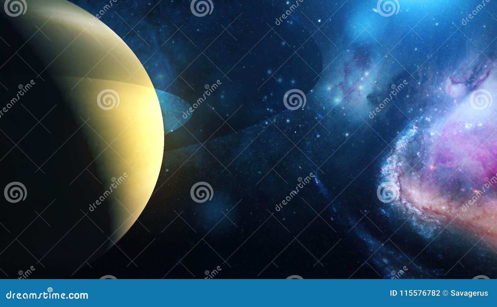 Realistische Planeet Saturn van ruimte