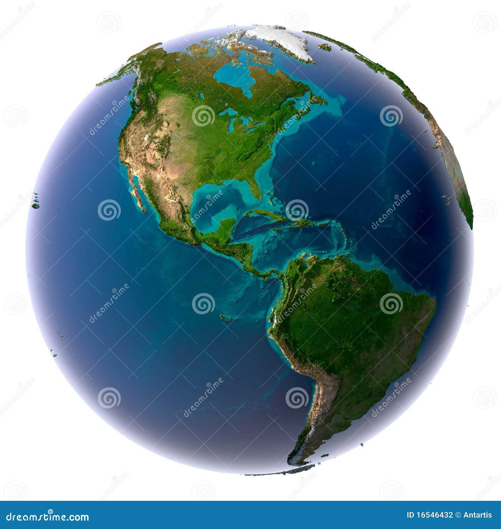 Realistische Planeten-Erde mit natürlichem