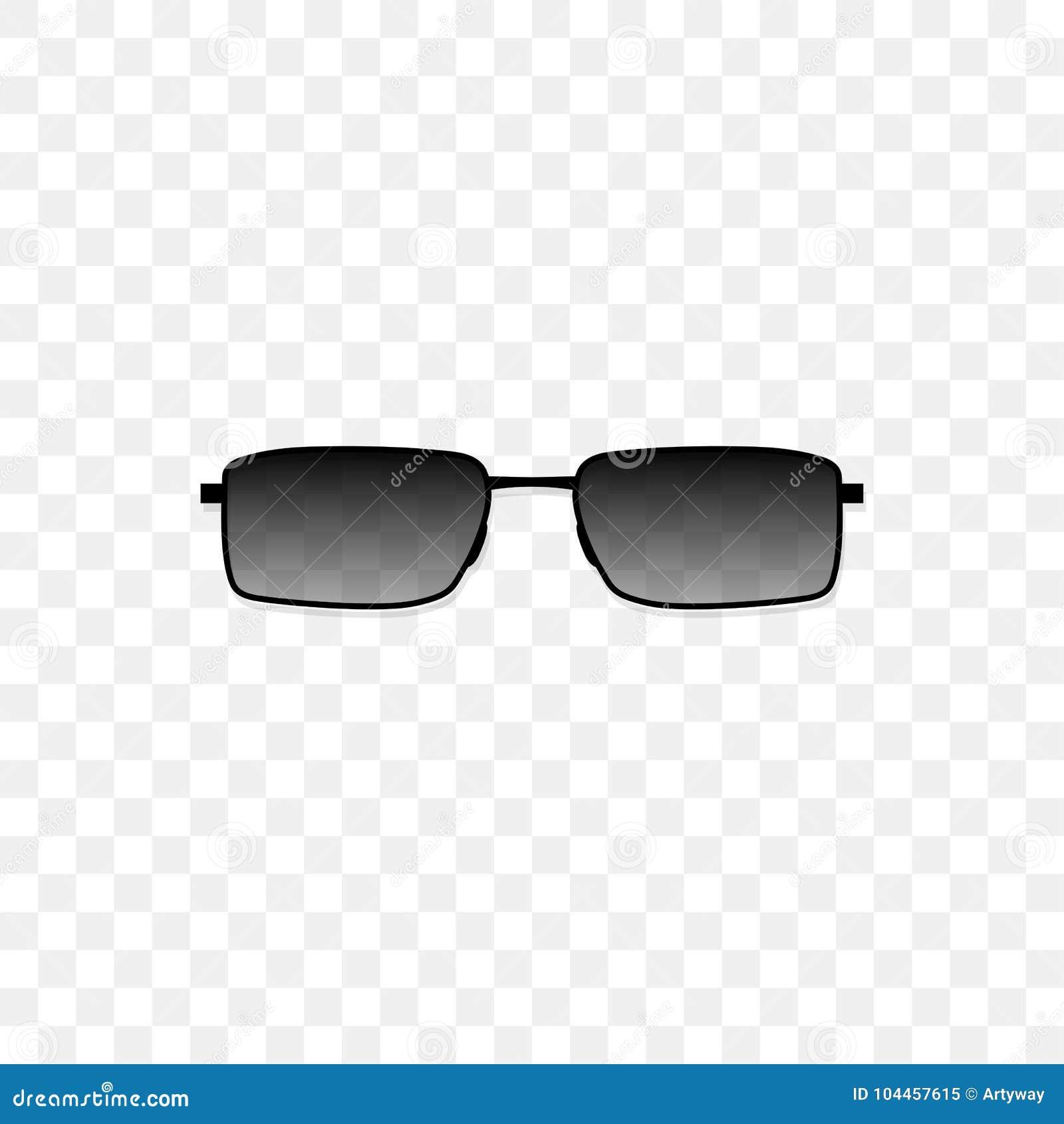 Realistische Sonnenbrille Mit Einem Lichtdurchlässigen
