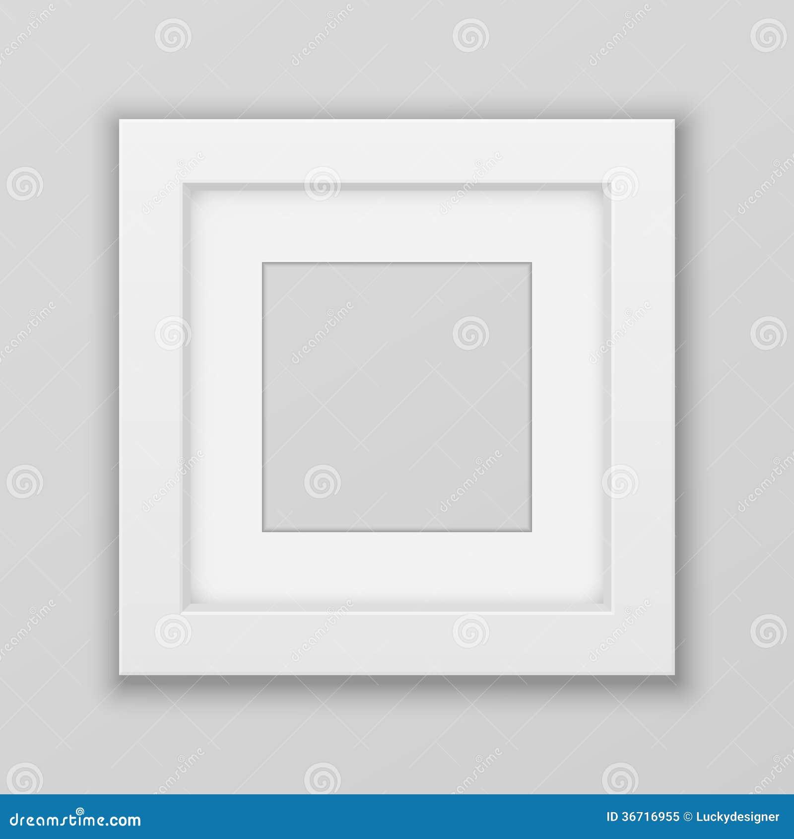 Realistischer Bilderrahmen. Quadrat. Vektor Abbildung - Illustration ...