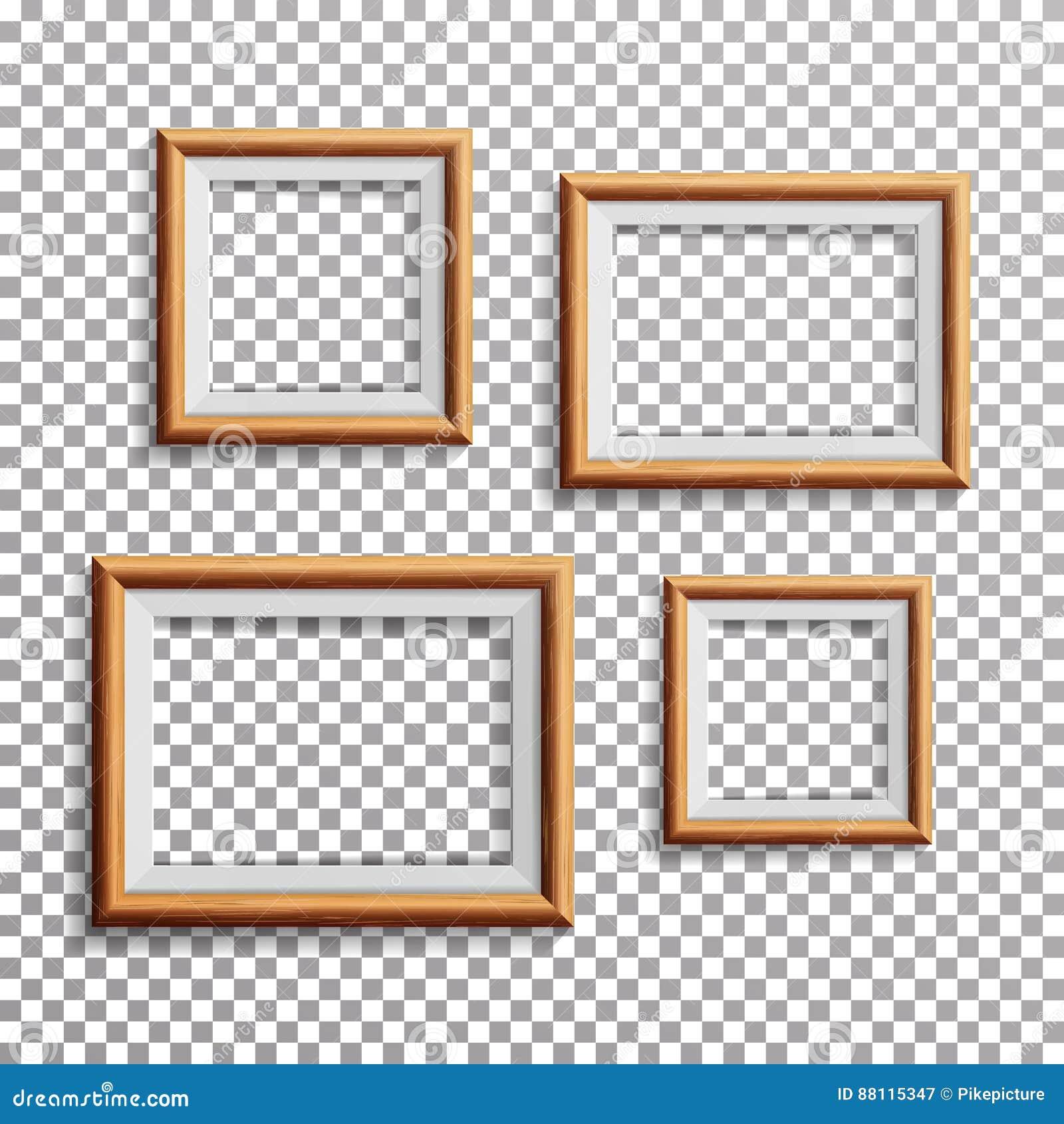 Realistischer Foto-Rahmen-Vektor Stellen Sie Quadrat, A3, Der Helle ...