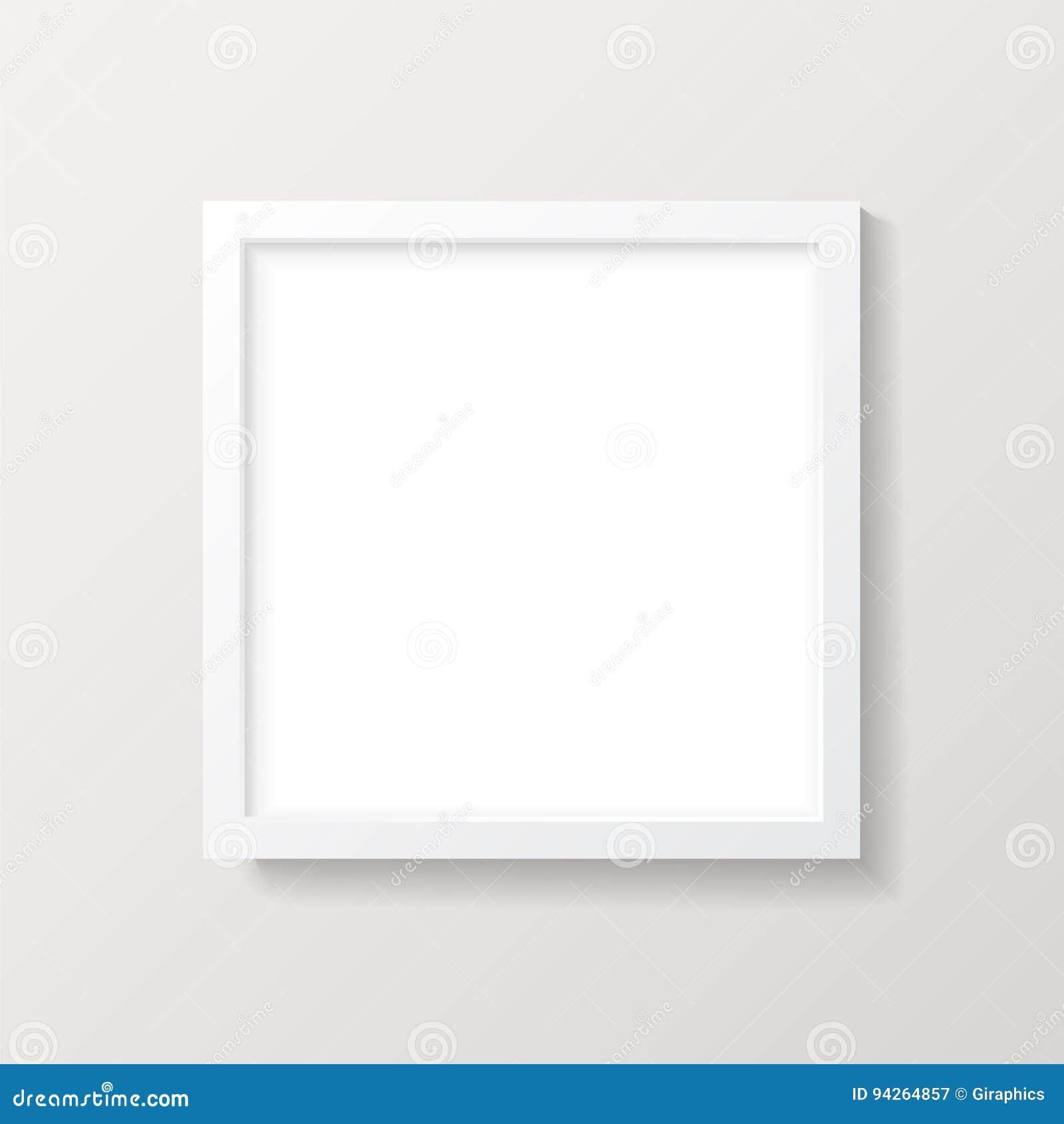 Realistisches Leeres Weißes Quadrat-Bilderrahmen-Modell Vektor ...