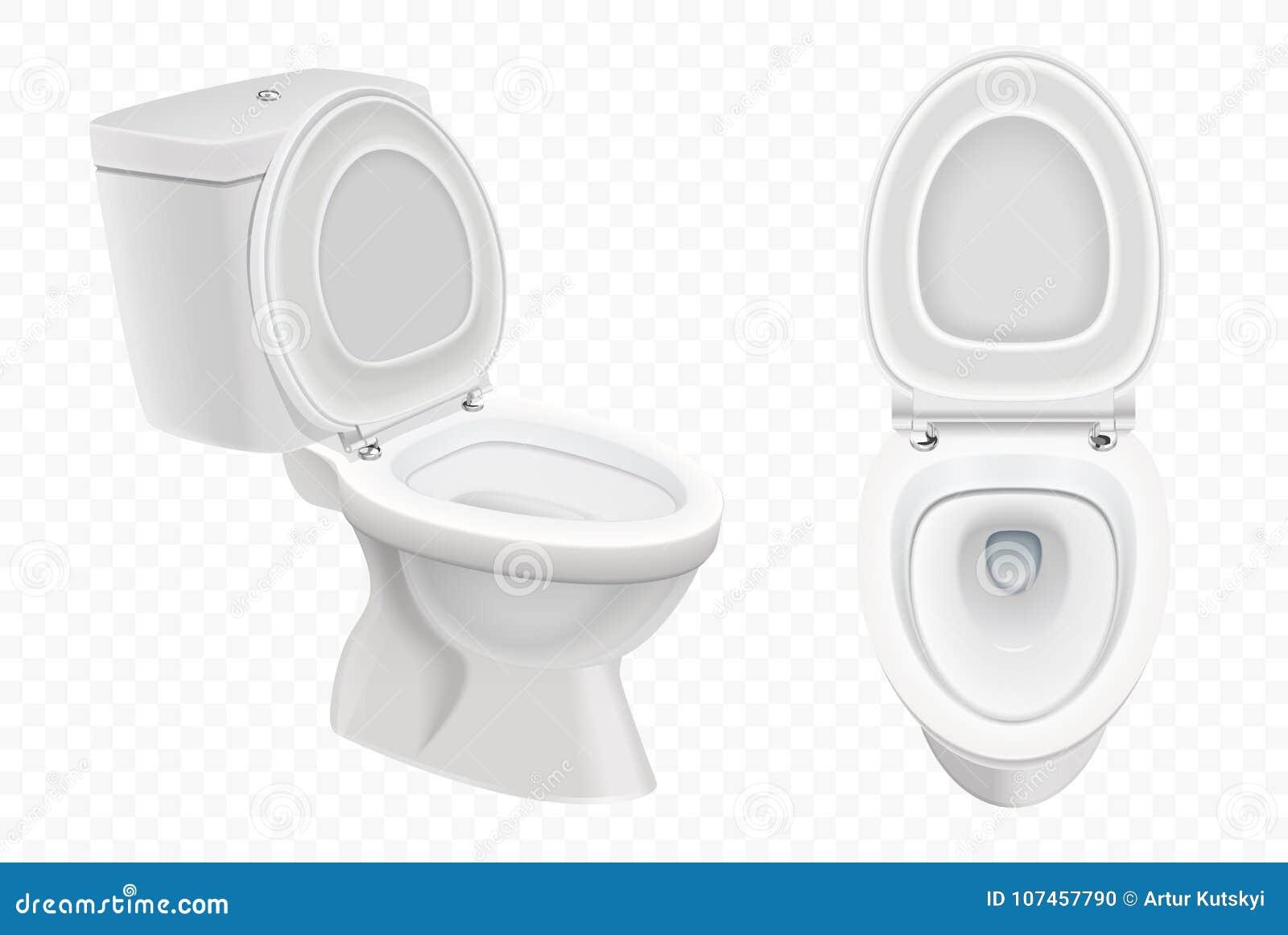 Realistisches Toilettenschusselmodell Weisse Toilette 3d Auf Alpha