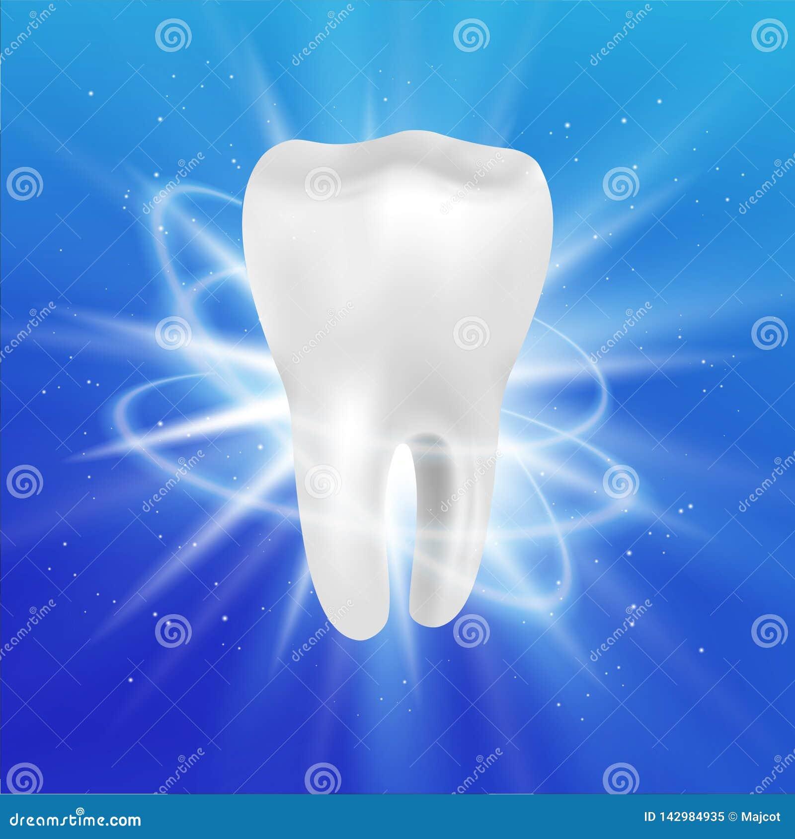 Realistisches Zahn-Plakat