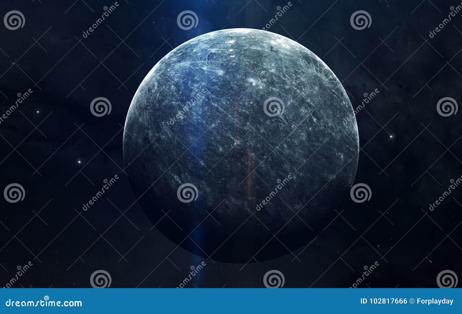 Realistisk bild av Mercury, planet av solsystemet Bildande bild Beståndsdelar av denna avbildar möblerat av NASA