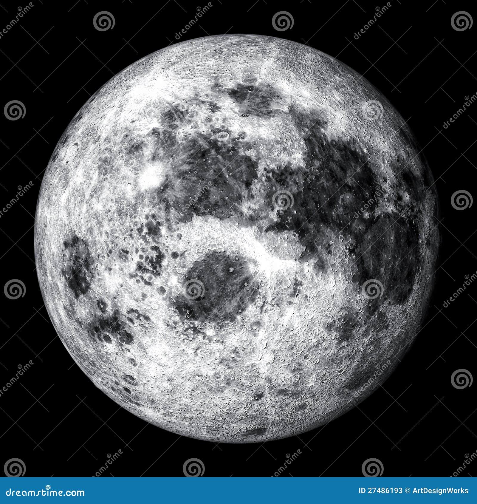 Realistisk fullmåne