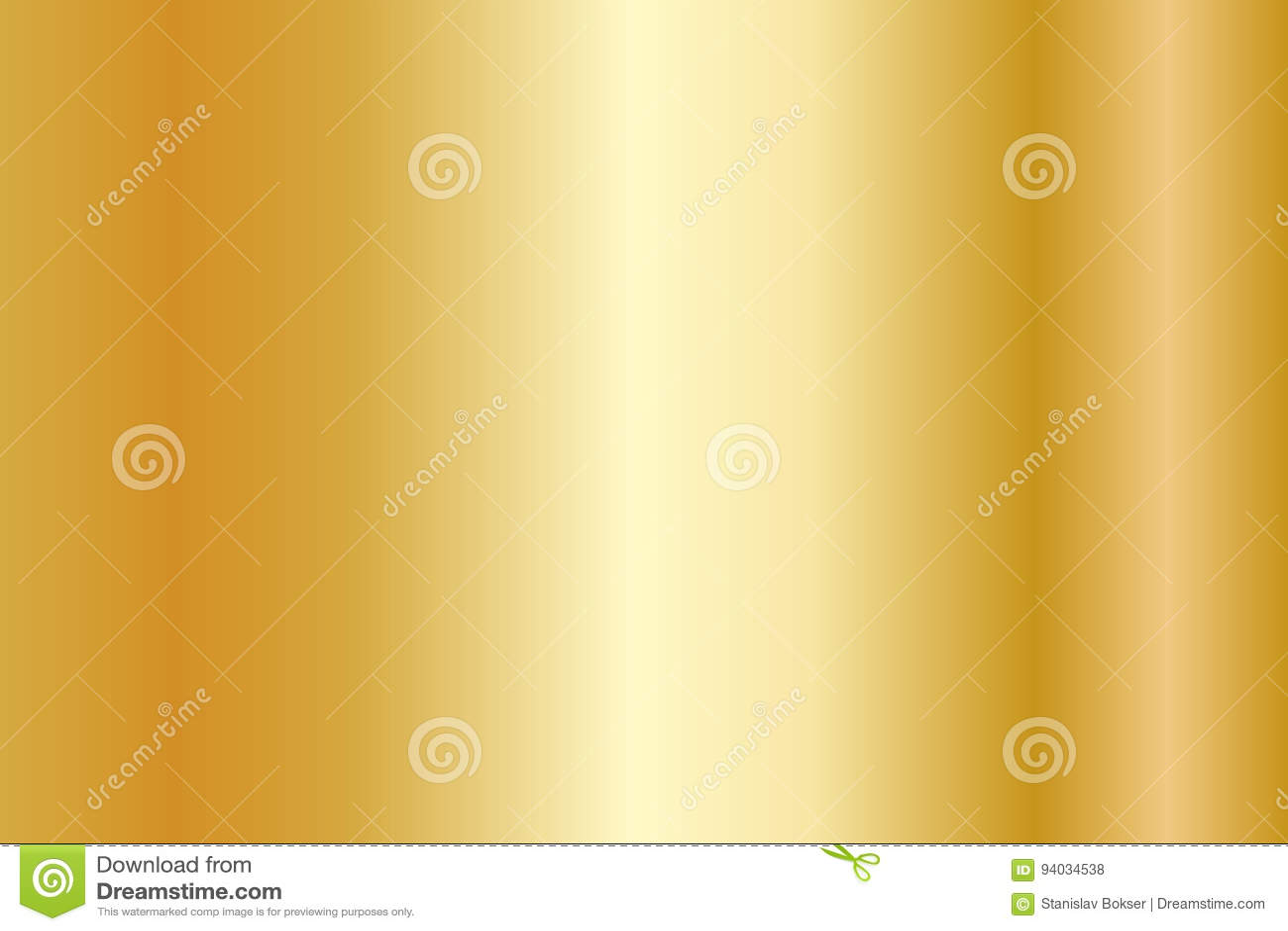 Realistisk guld- textur Skinande lutning för metallfolie