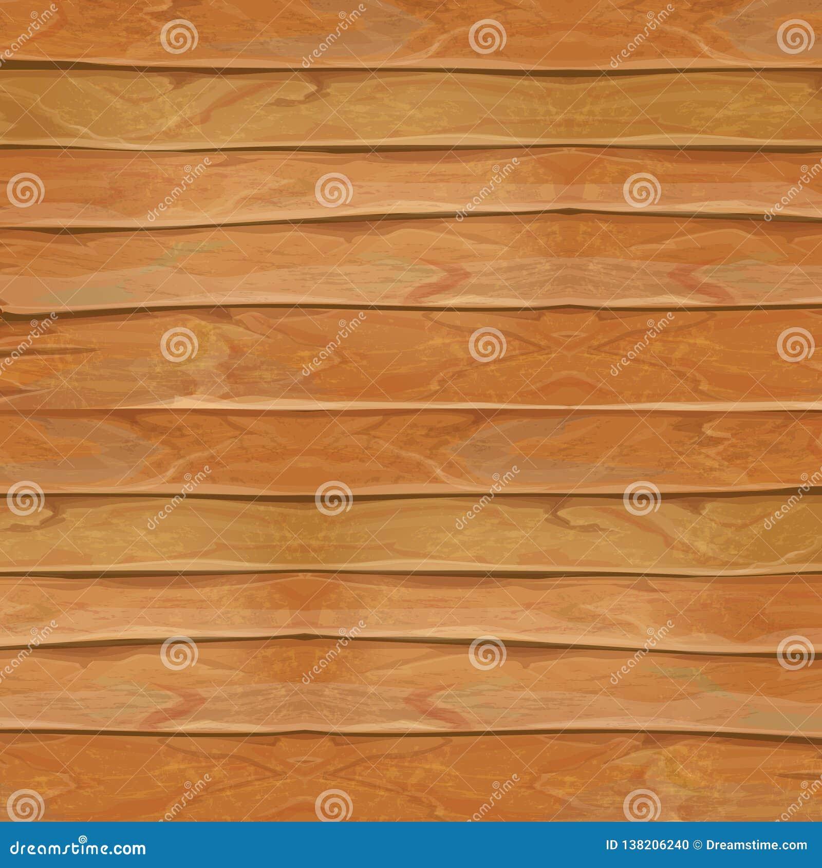 Realistisk texturillustration för trä Naturlig träbakgrundsvektor