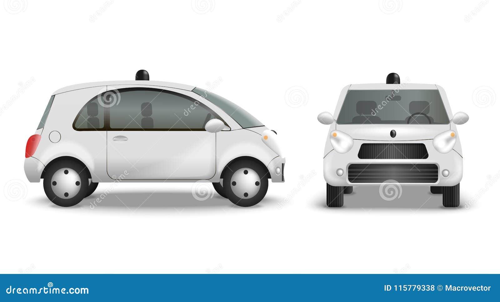 Realistisk uppsättning för autonom bil
