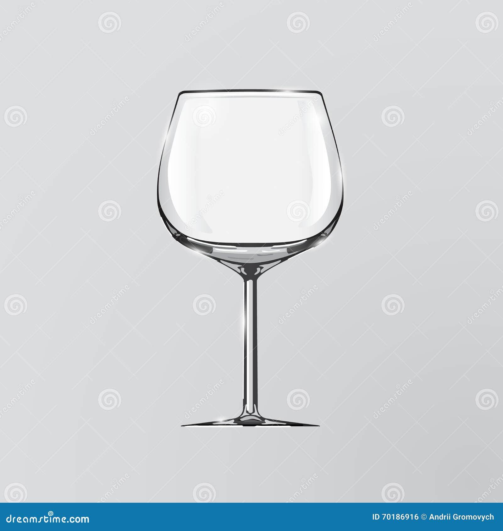Realistisk vektorillustration av ett vinexponeringsglas