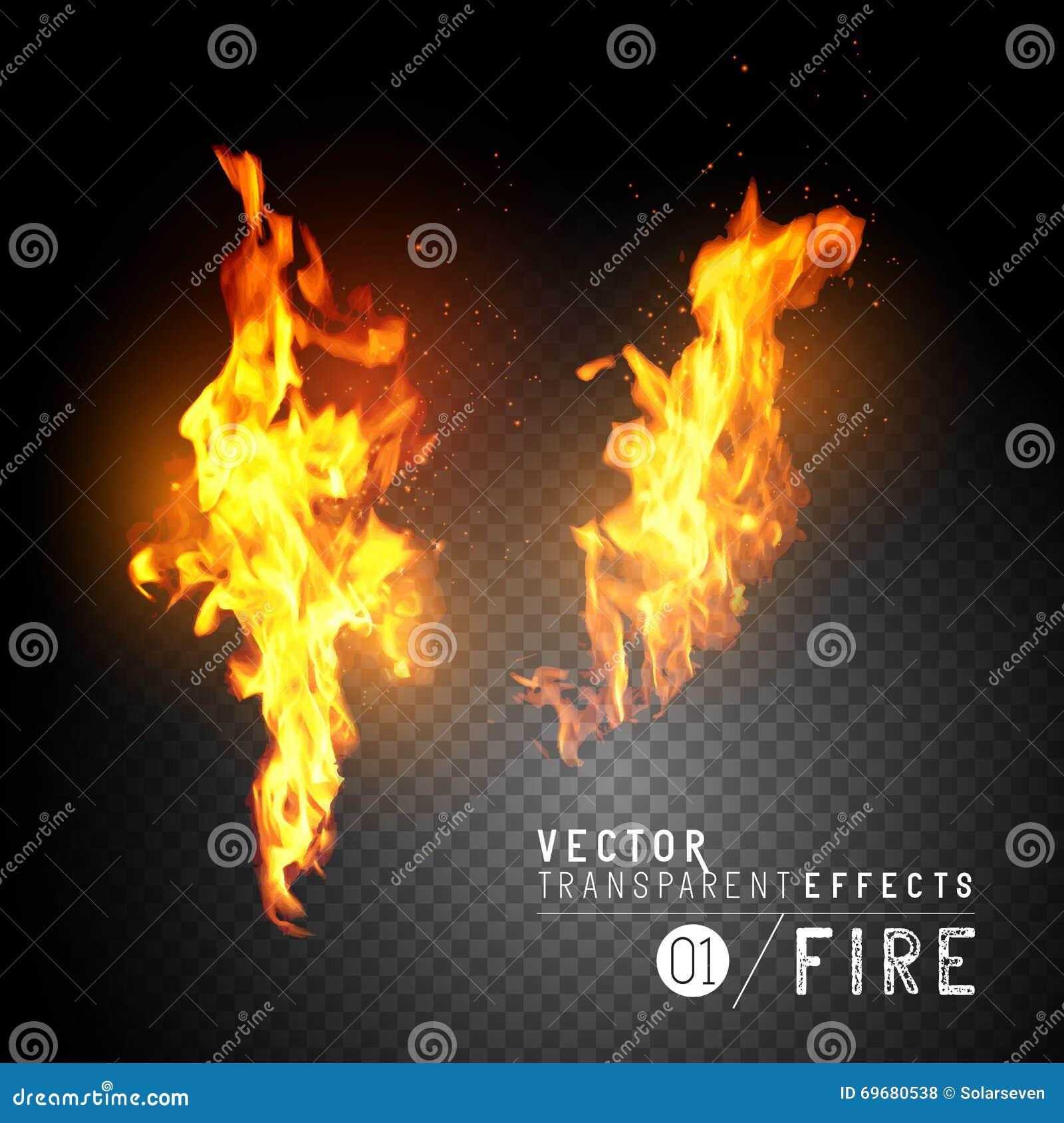Realistiska vektorbrandflammor