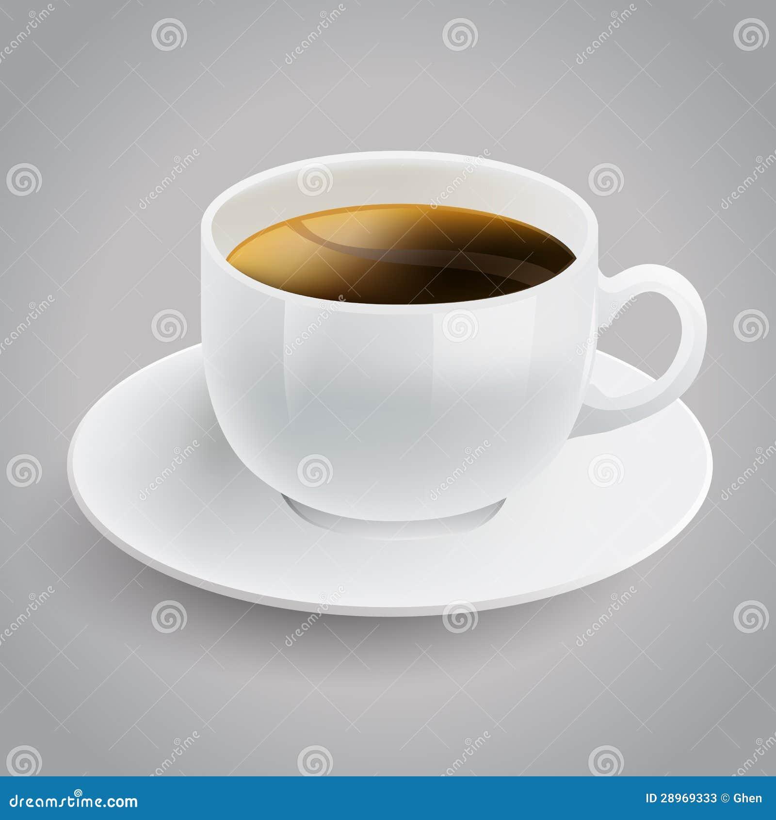 Realistyczna biała filiżanka kawy