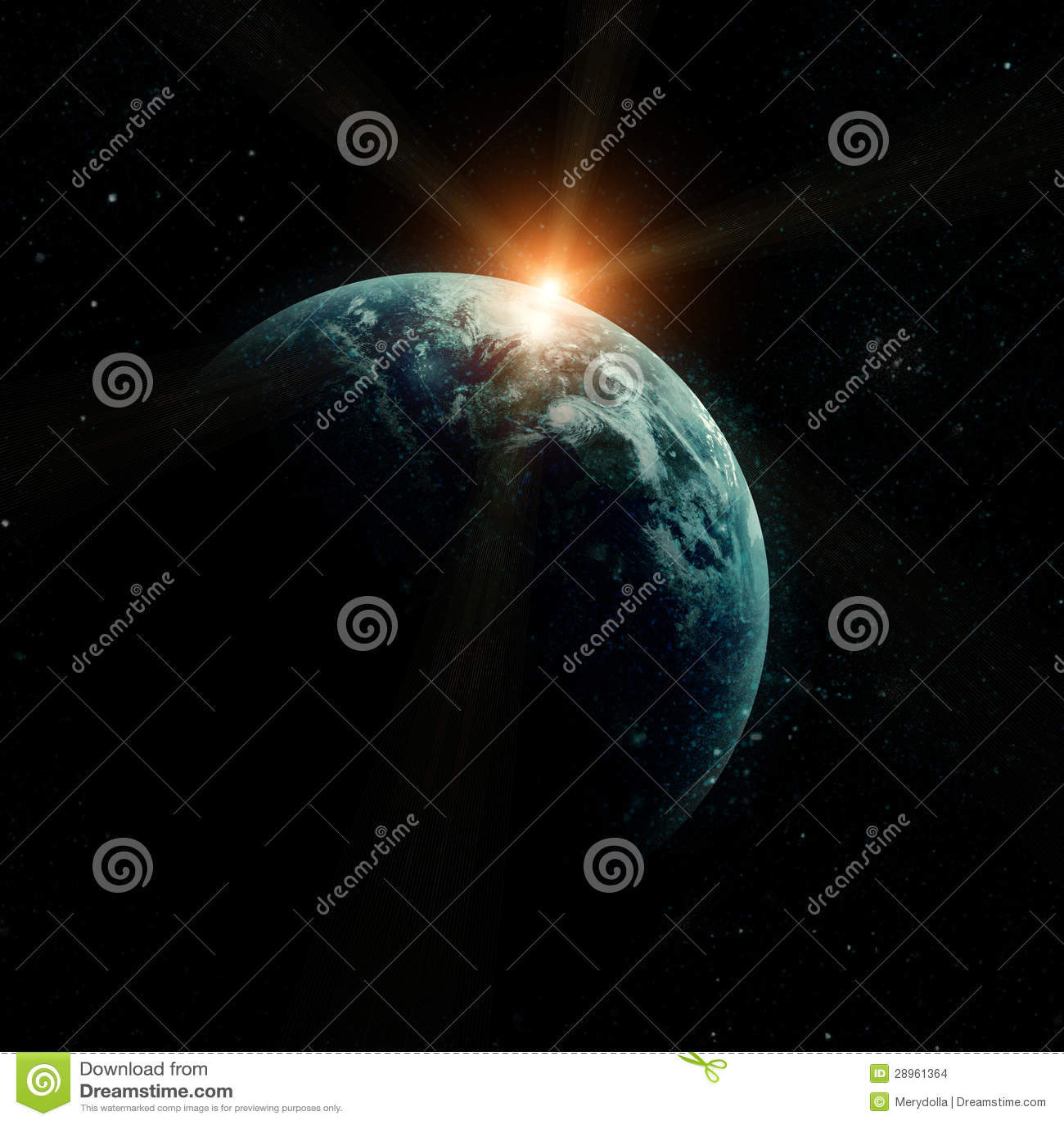 Realistyczna planety ziemia w przestrzeni