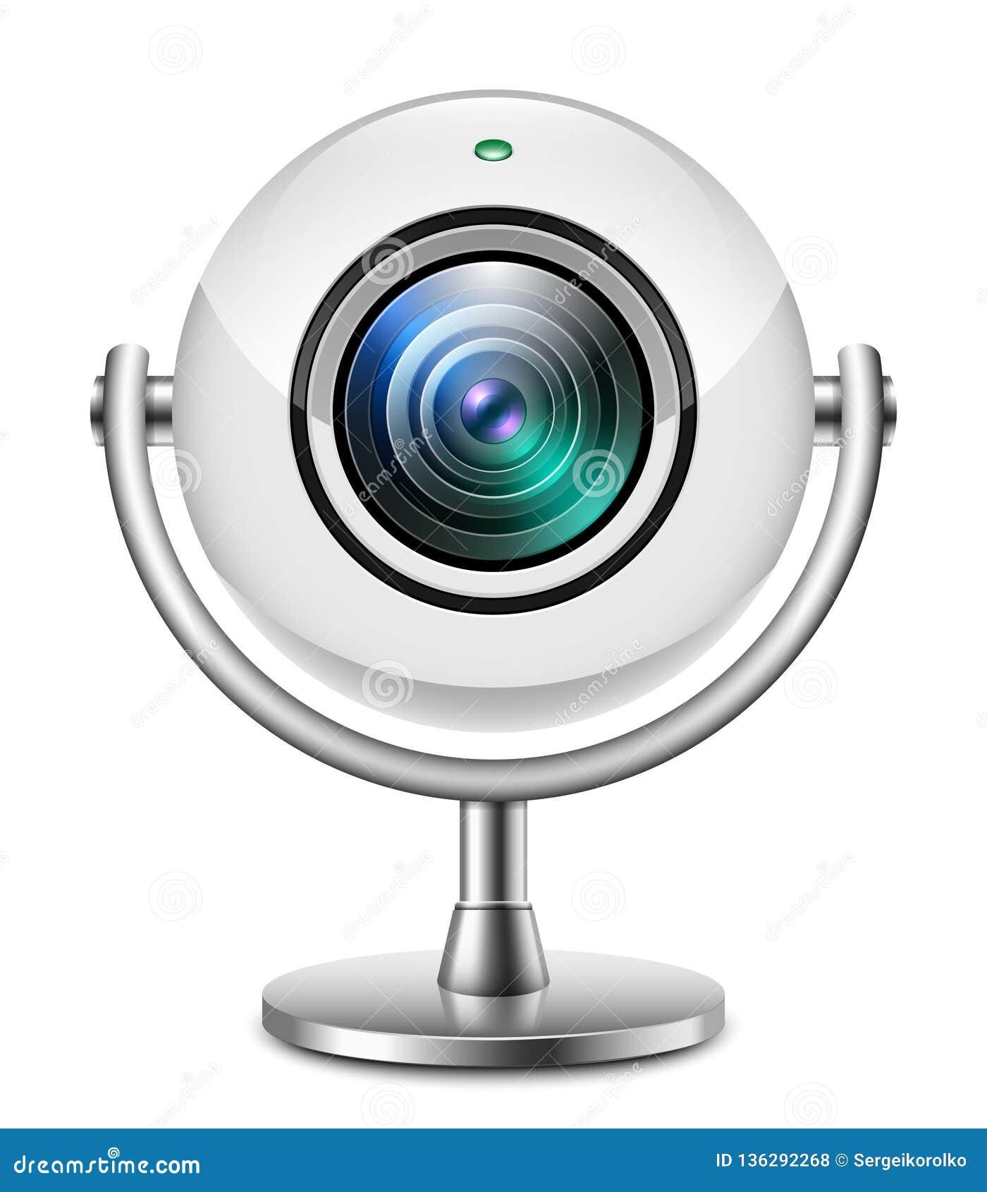 Realistyczna sieci kamery ikona