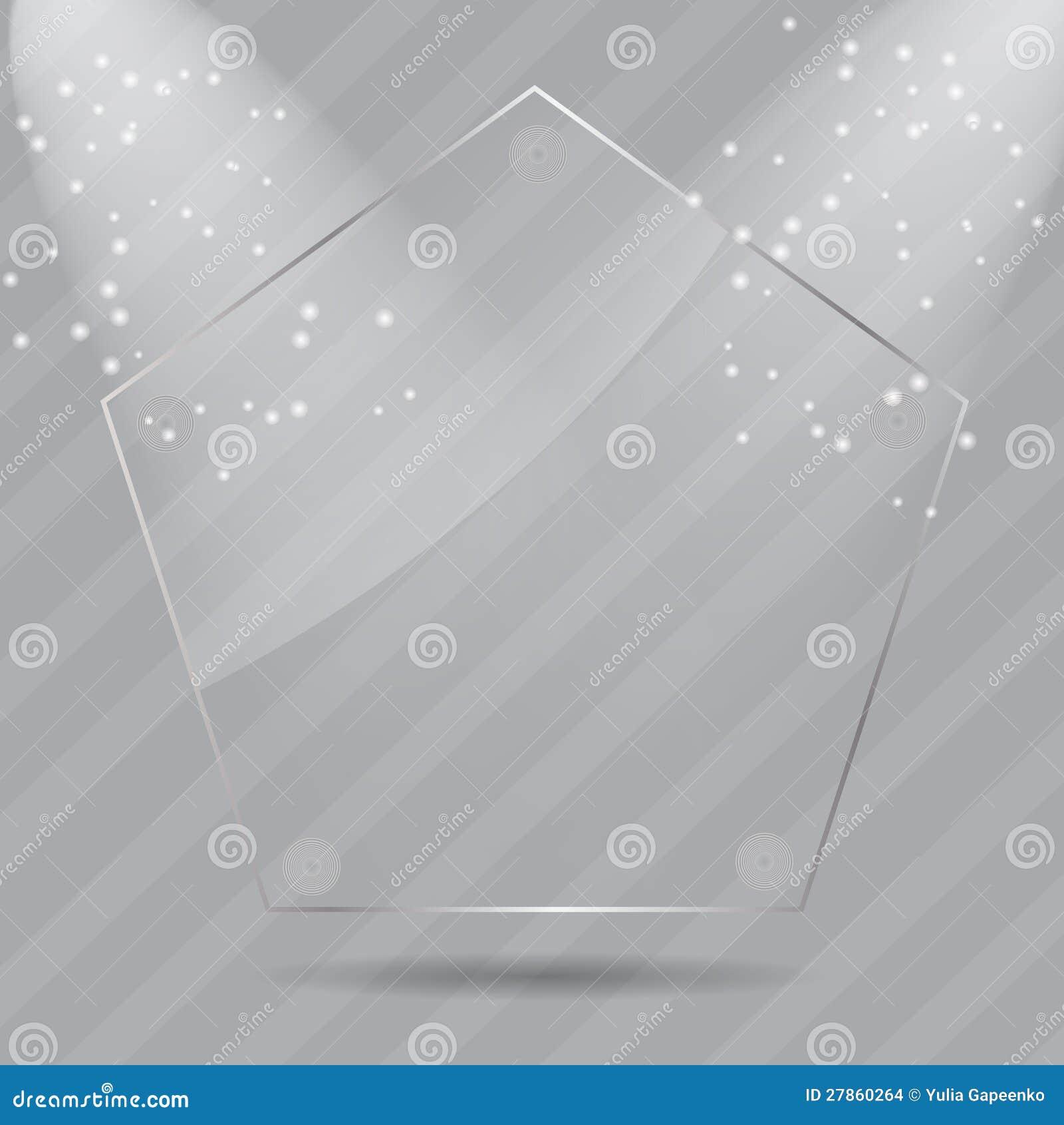 Realistyczne szklane ramy. Wektorowa ilustracja