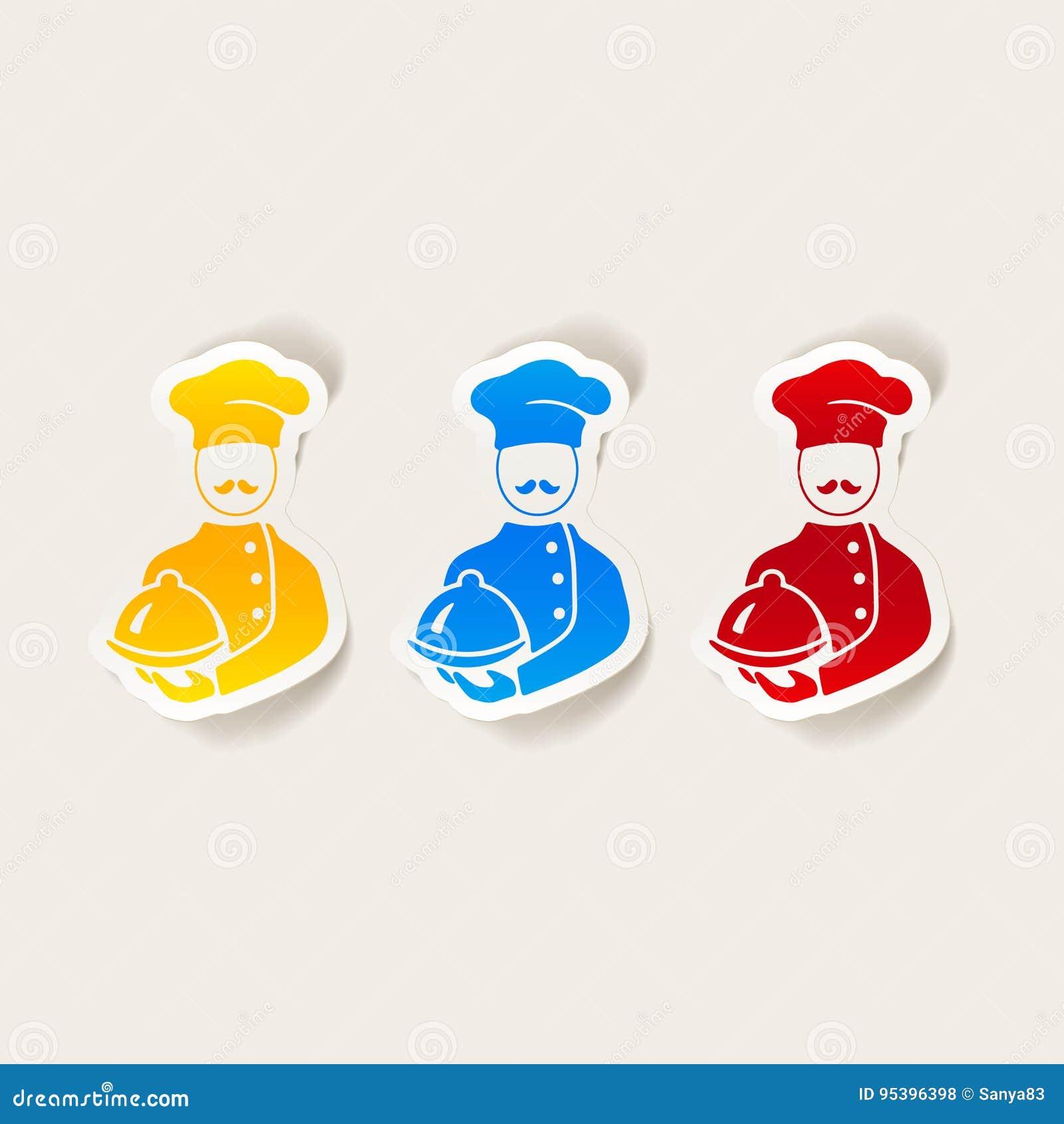 Realistyczny projekta element kucharz