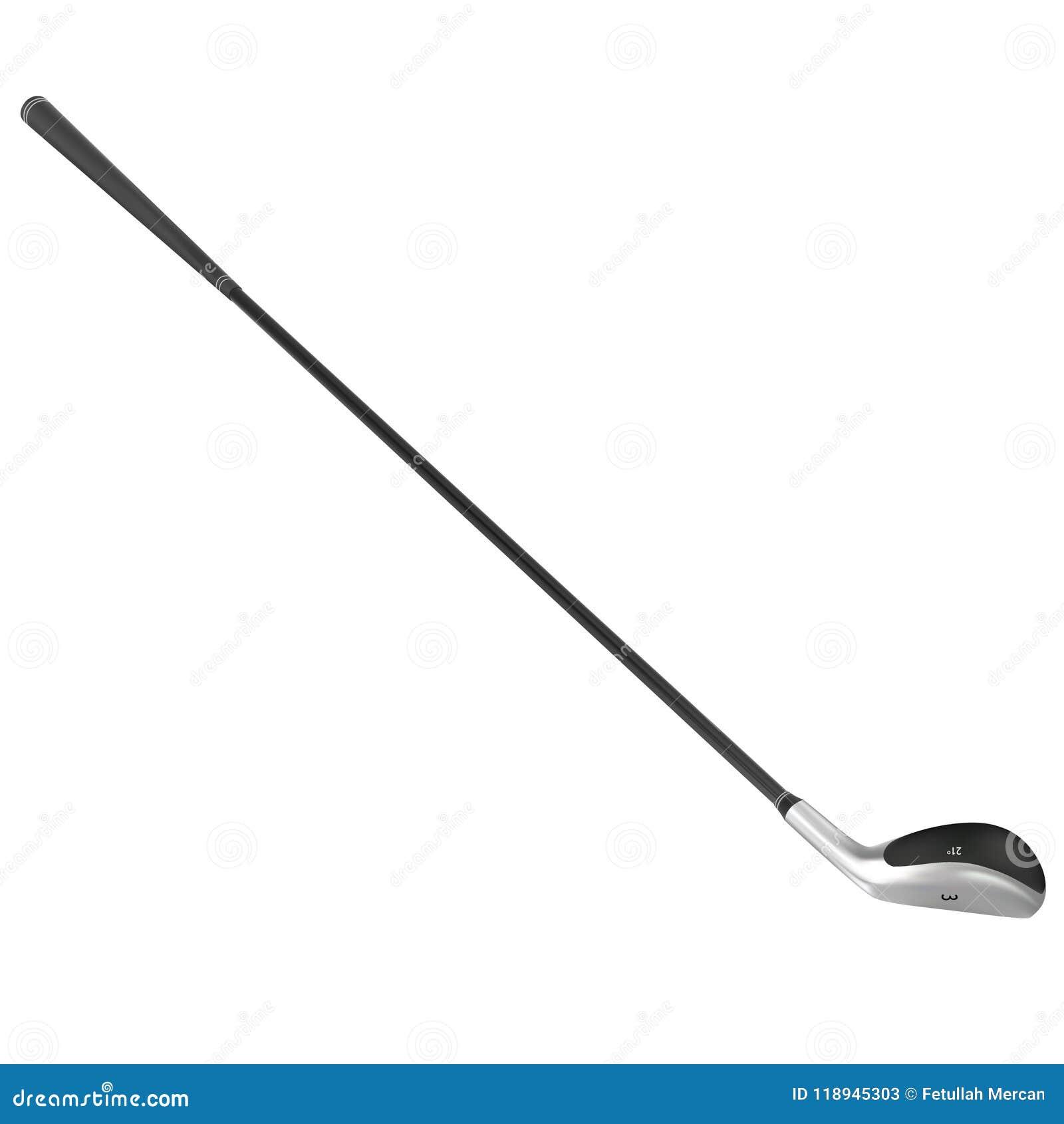 Realistyczny wektorowy kij golfowy