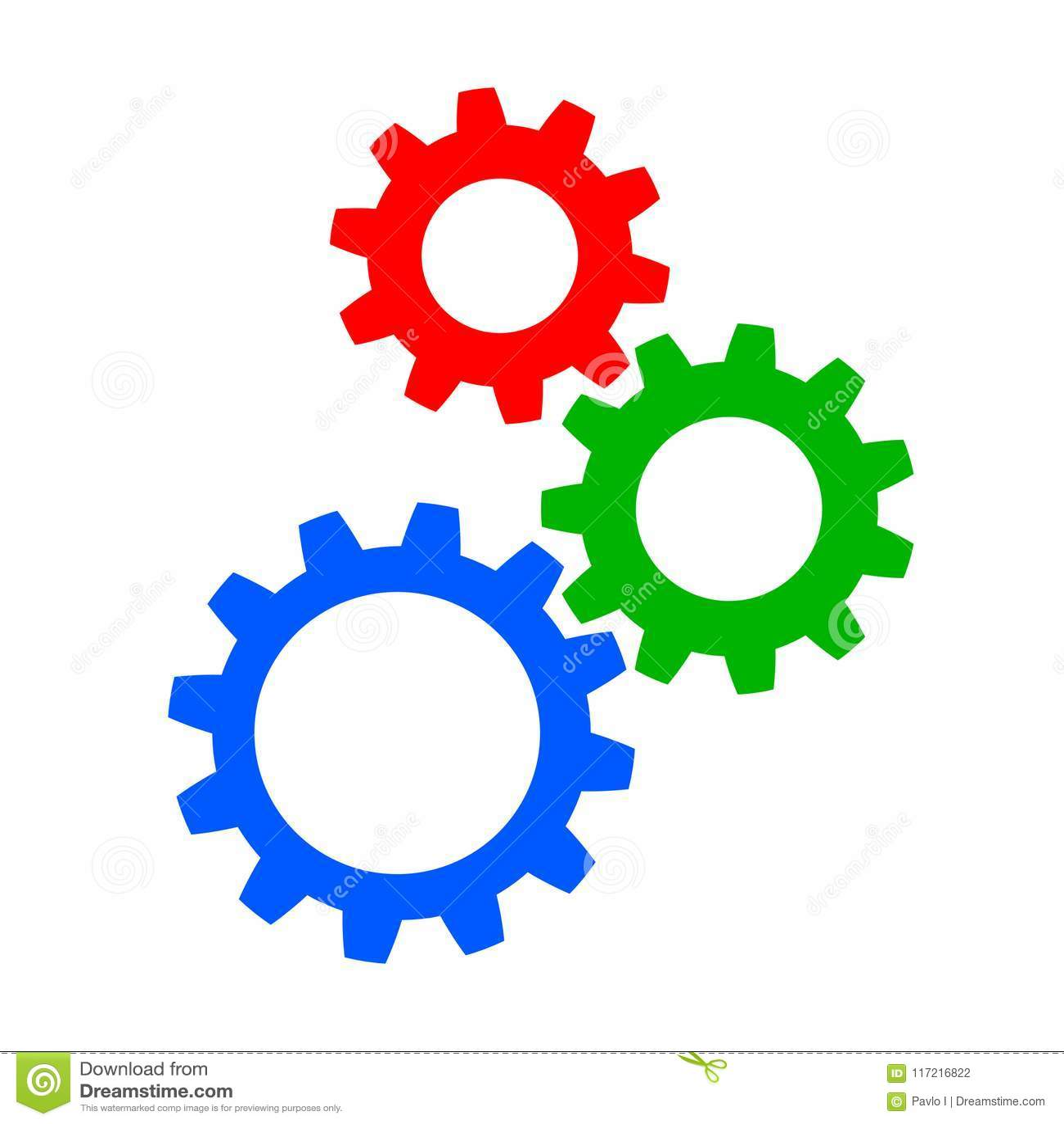 realization, concept teamwork, generator business idea - vector